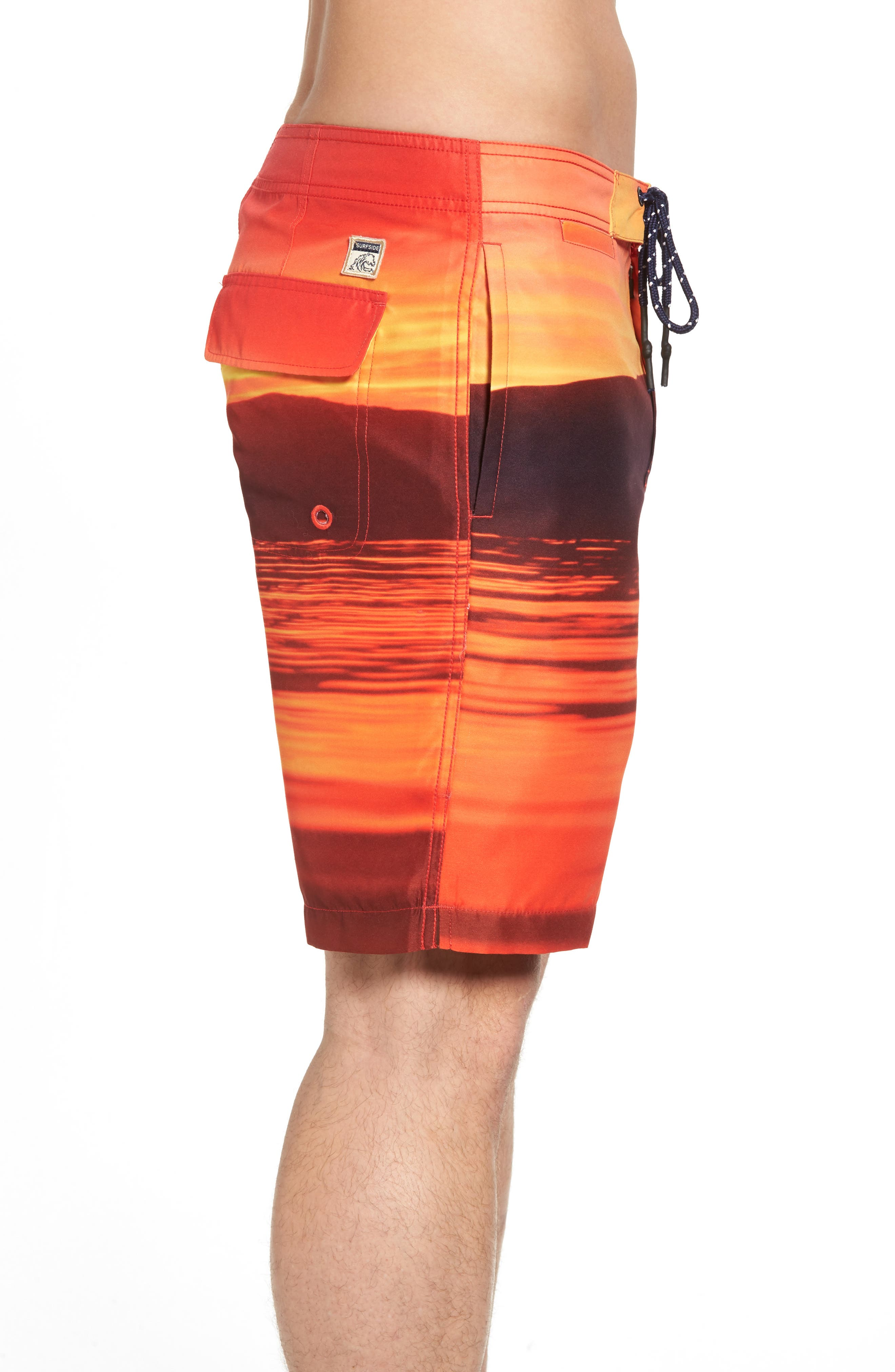 Red Sea Photo Real Board Shorts,                             Alternate thumbnail 3, color,                             Mars Red