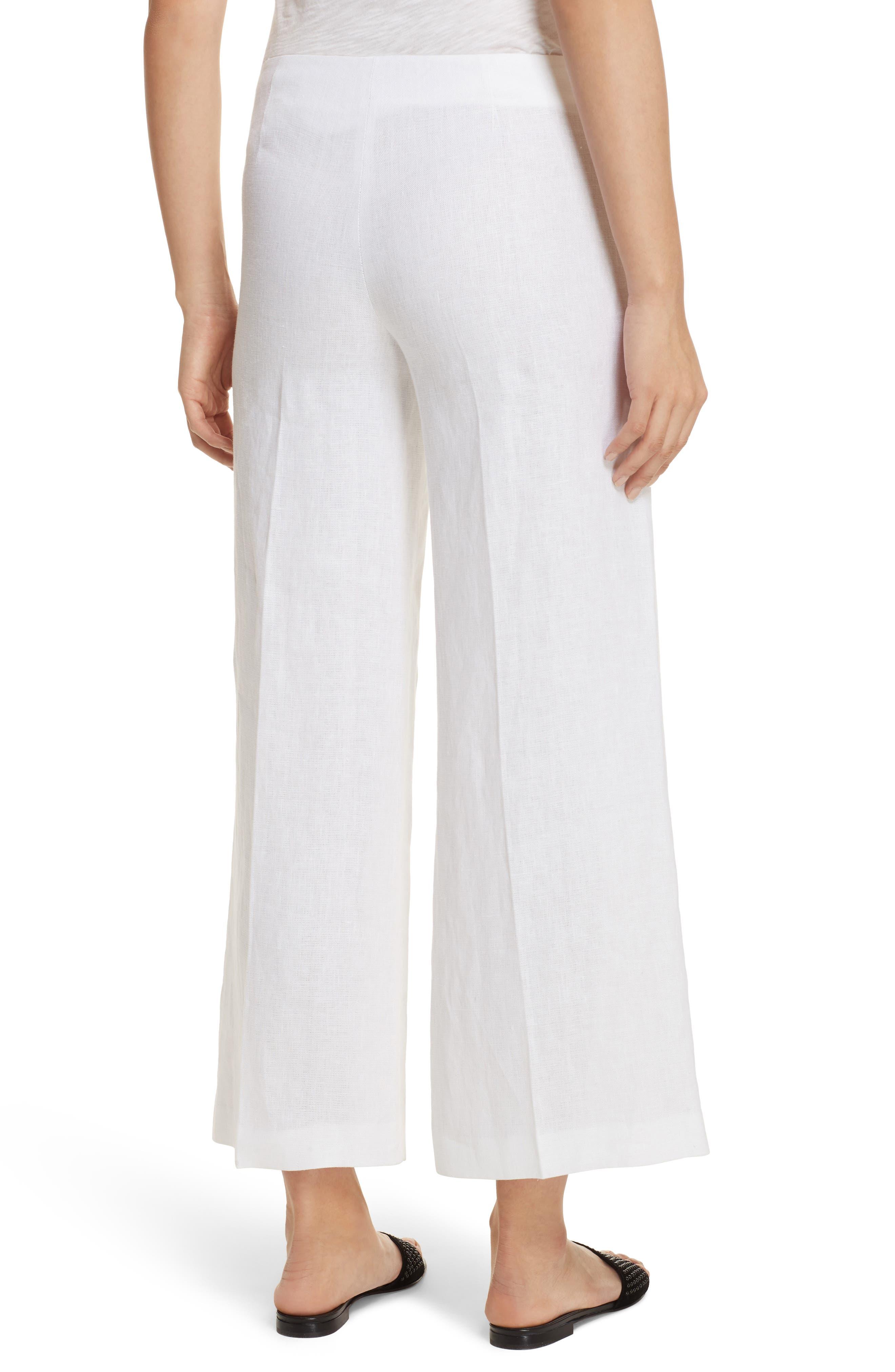 Terena B Linen Wide Leg Pants,                             Alternate thumbnail 2, color,                             White