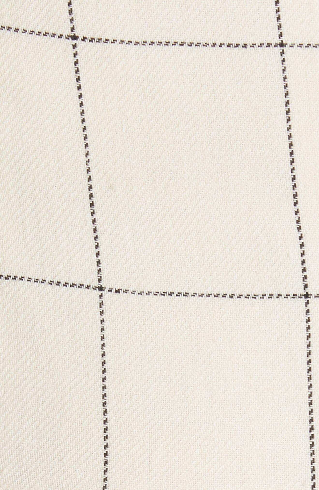 Jacques X-Factor Grid Linen Dress,                             Alternate thumbnail 5, color,                             Cream Grid