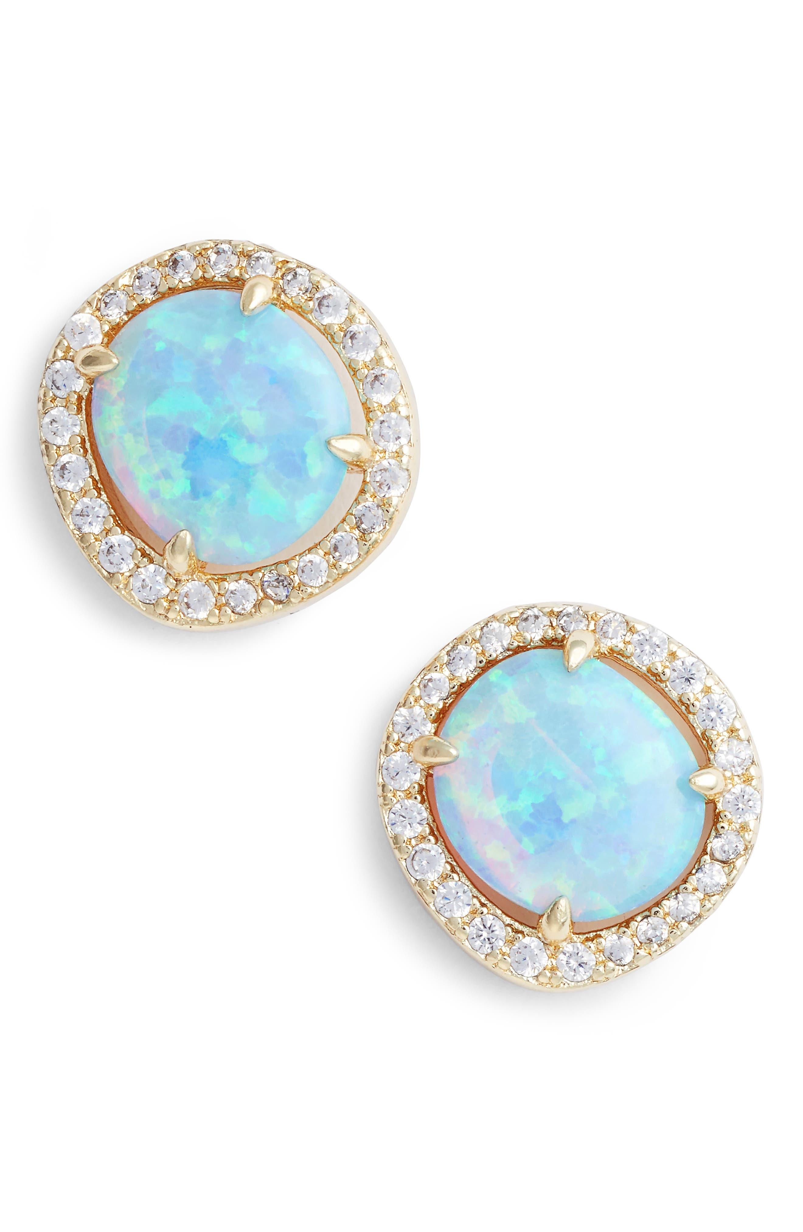 Alternate Image 1 Selected - Melinda Maria Sarah Louise Opal Stud Earrings