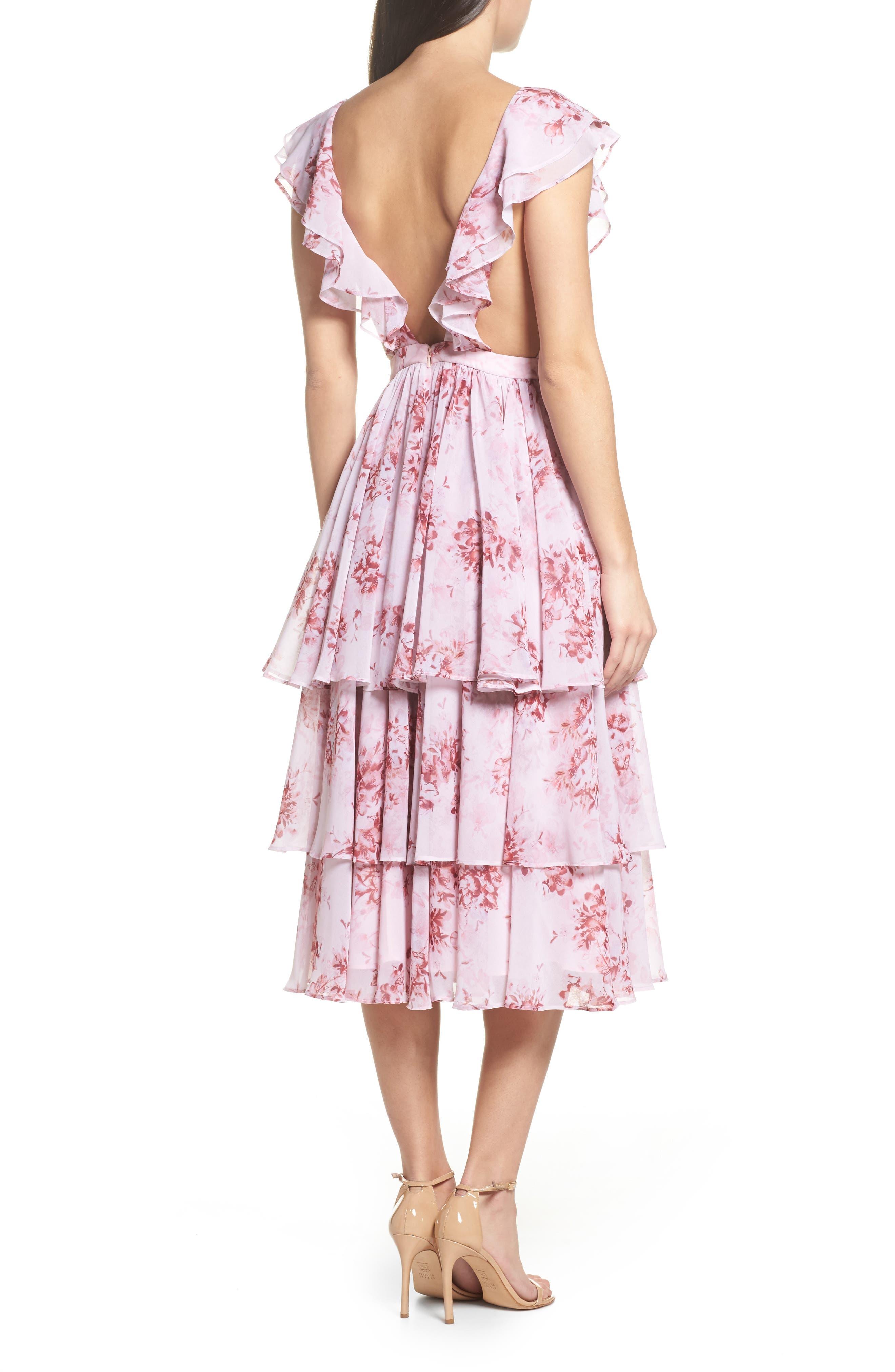 Edy Floral Georgette Dress,                             Alternate thumbnail 2, color,                             Delaney Print