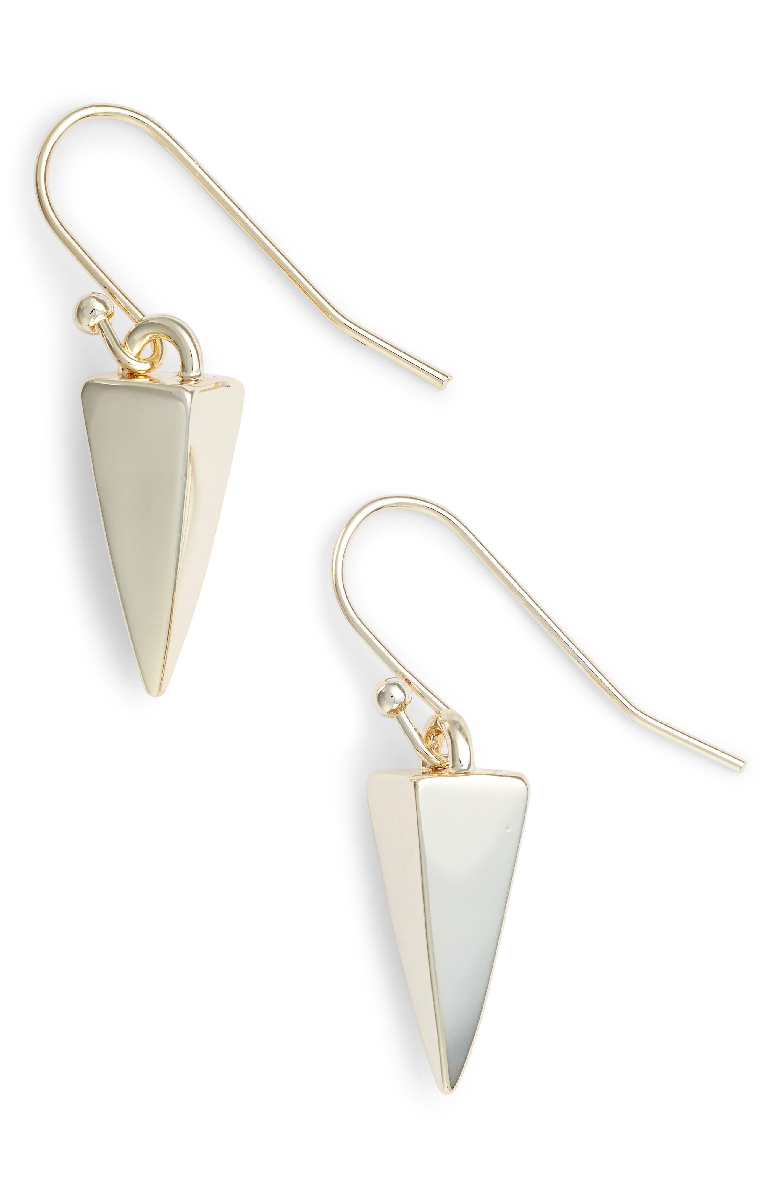 Melinda Maria Pyramid Drop Earrings
