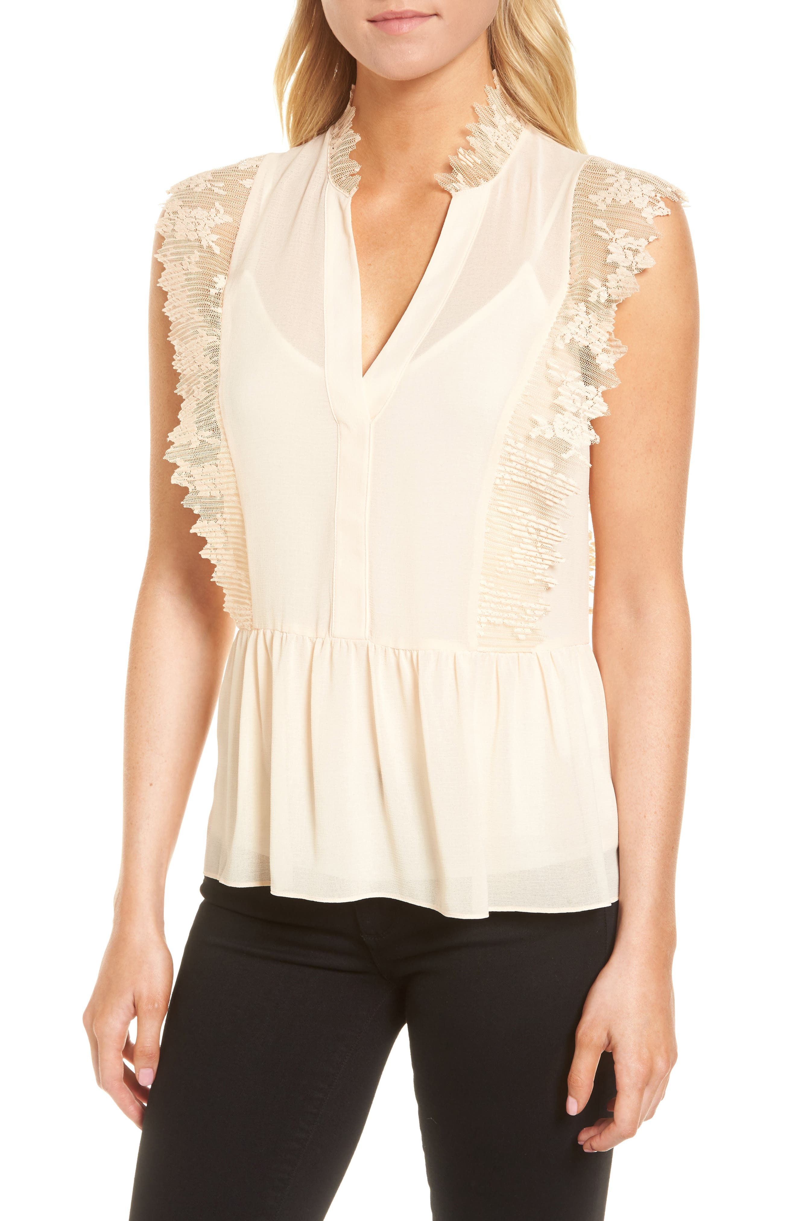 Alternate Image 1 Selected - Chelsea28 Lace Trim Top