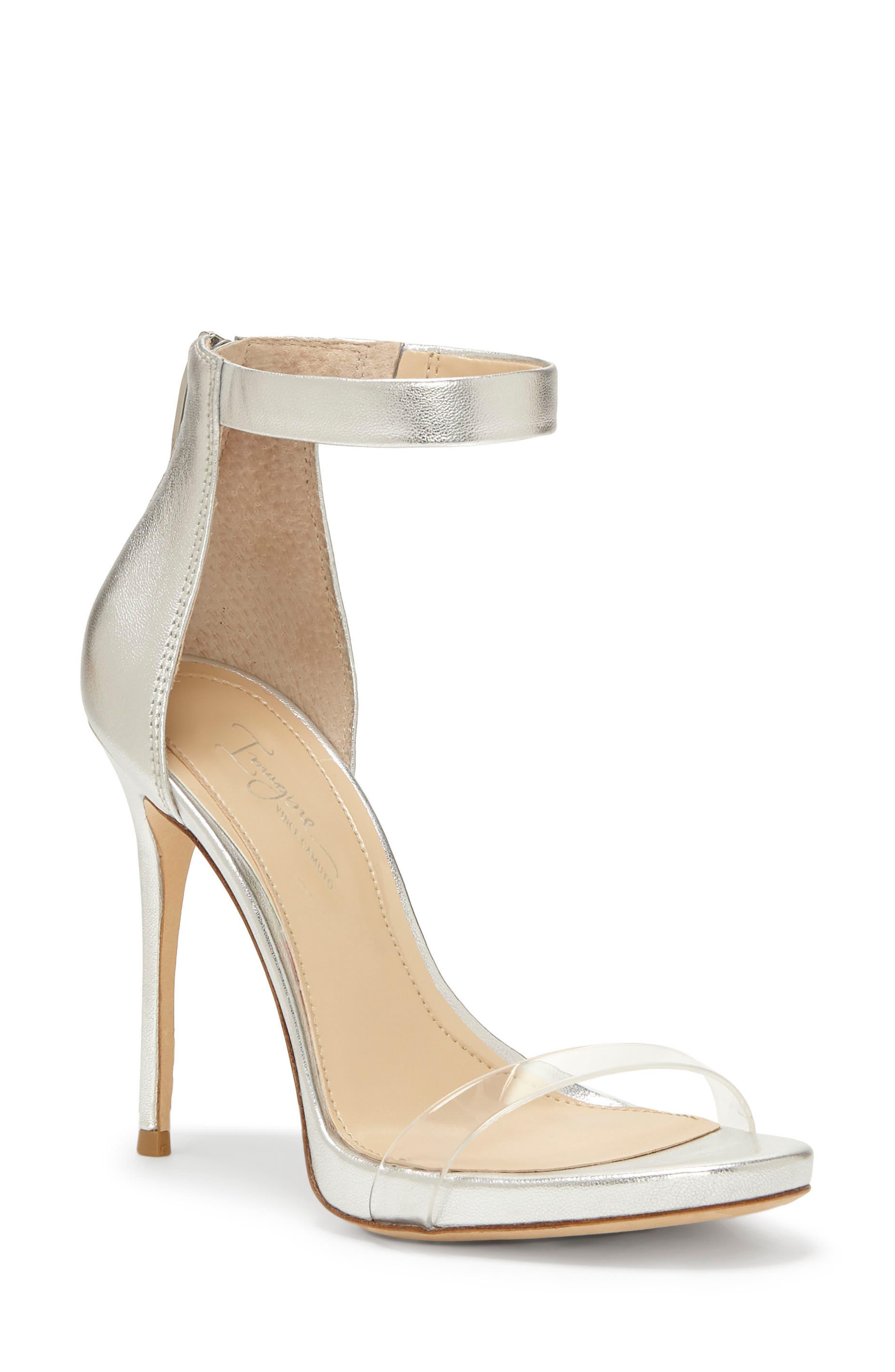 Imagine Vince Camuto Diva Sandal,                         Main,                         color, Platinum Leather