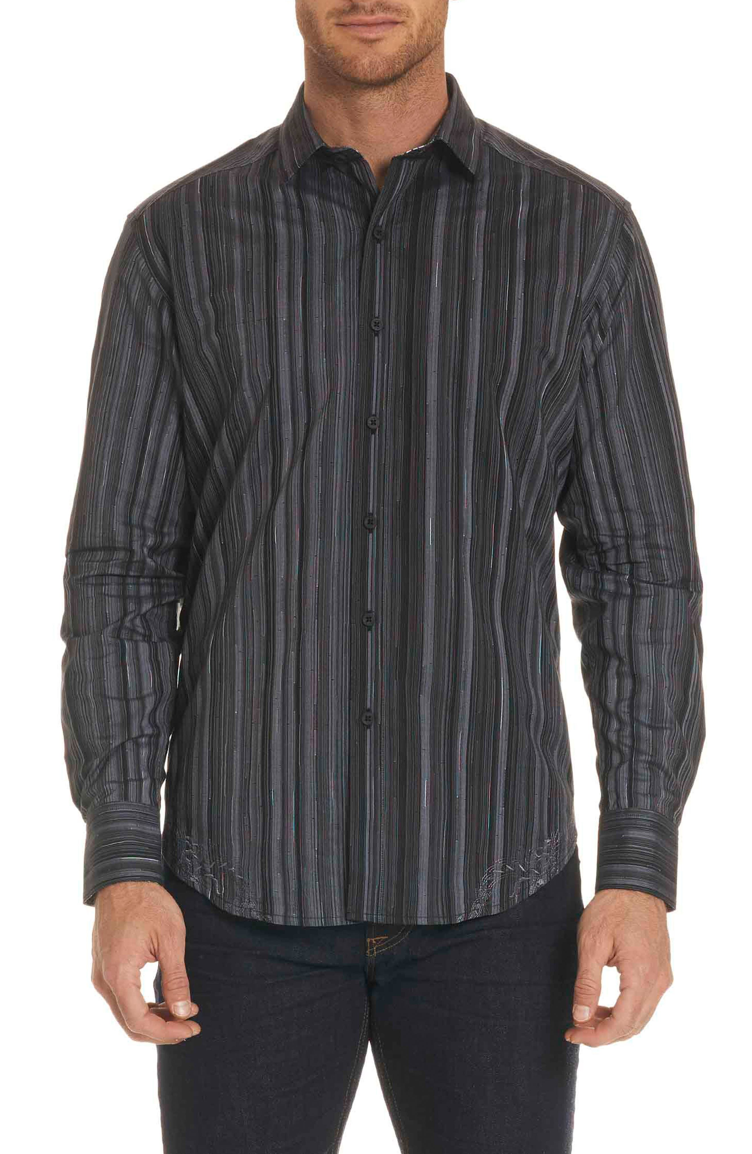 Robert Graham Lopez Classic Fit Stripe Sport Shirt