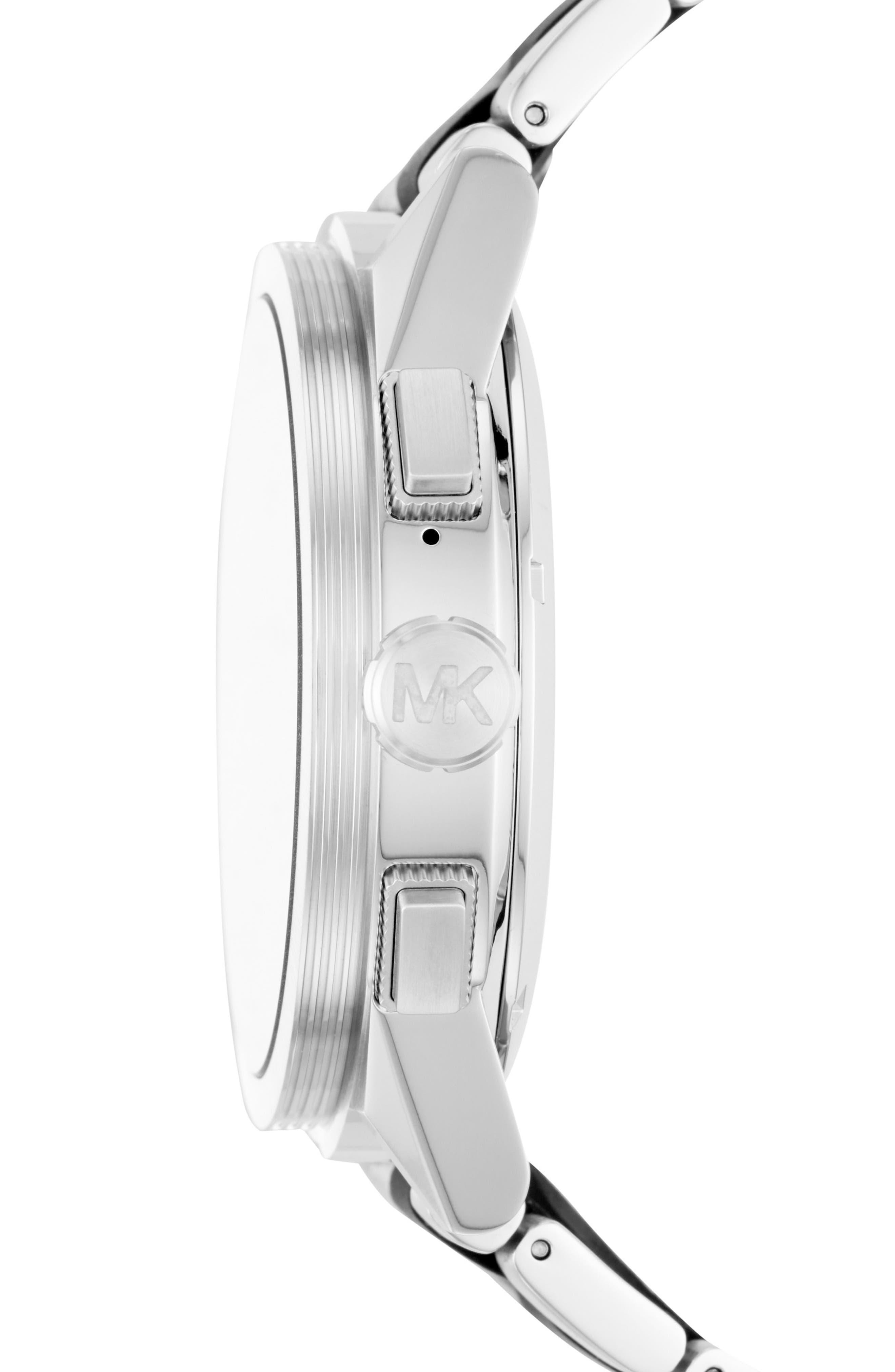 Grayson Bracelet Touchscreen Smart Watch, 47mm,                             Alternate thumbnail 4, color,                             Silver/ Black