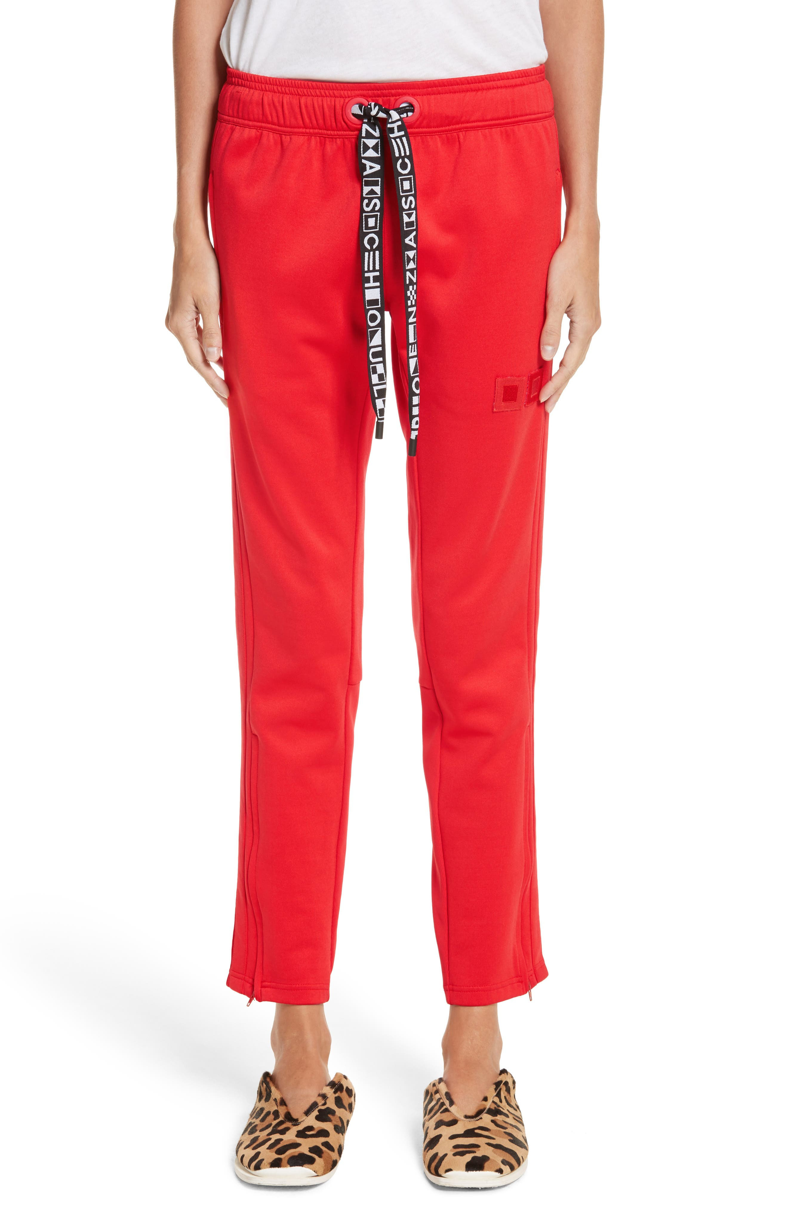 PSWL Jersey Track Pants,                             Main thumbnail 1, color,                             Poppy