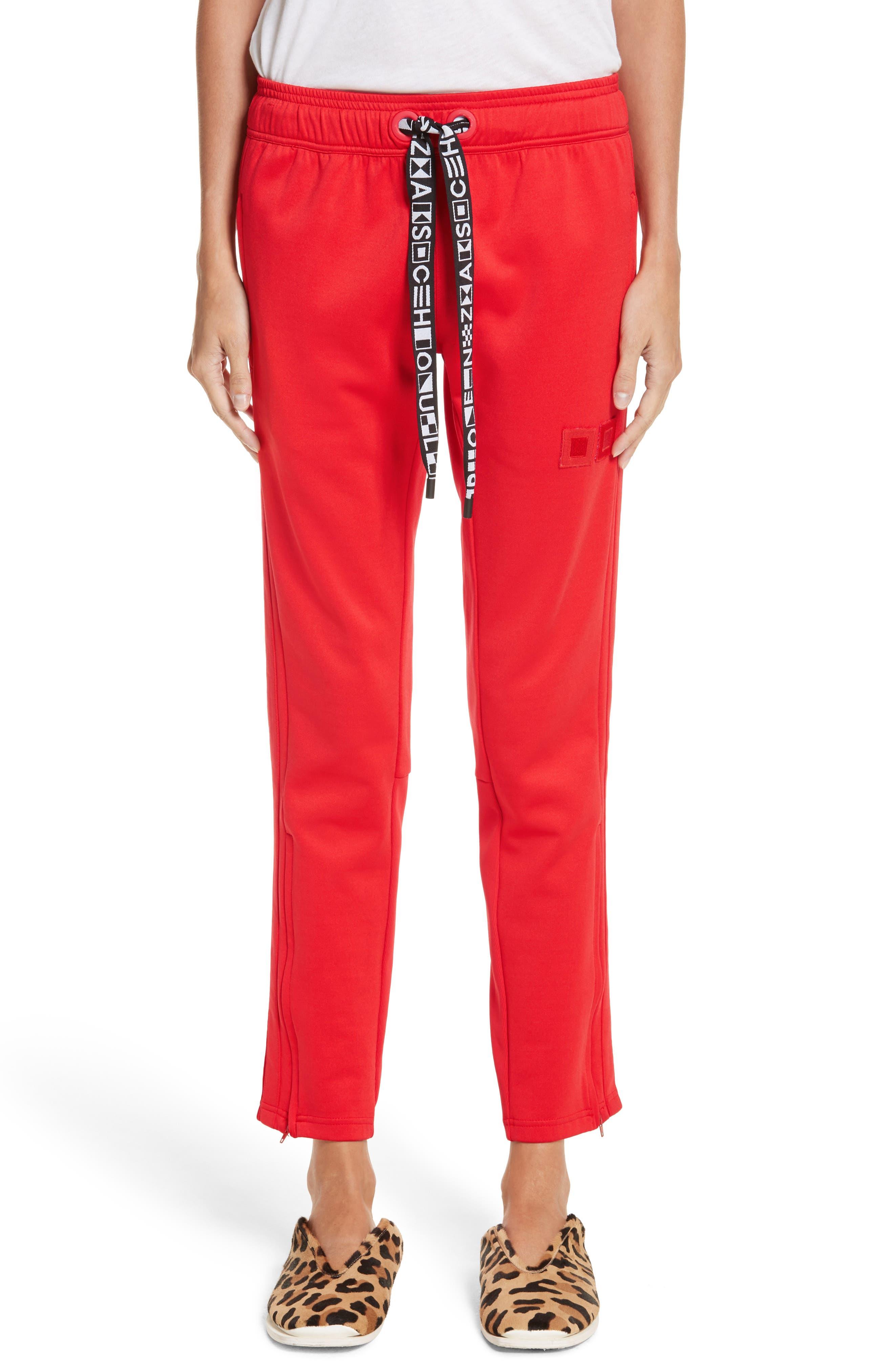 PSWL Jersey Track Pants,                         Main,                         color, Poppy