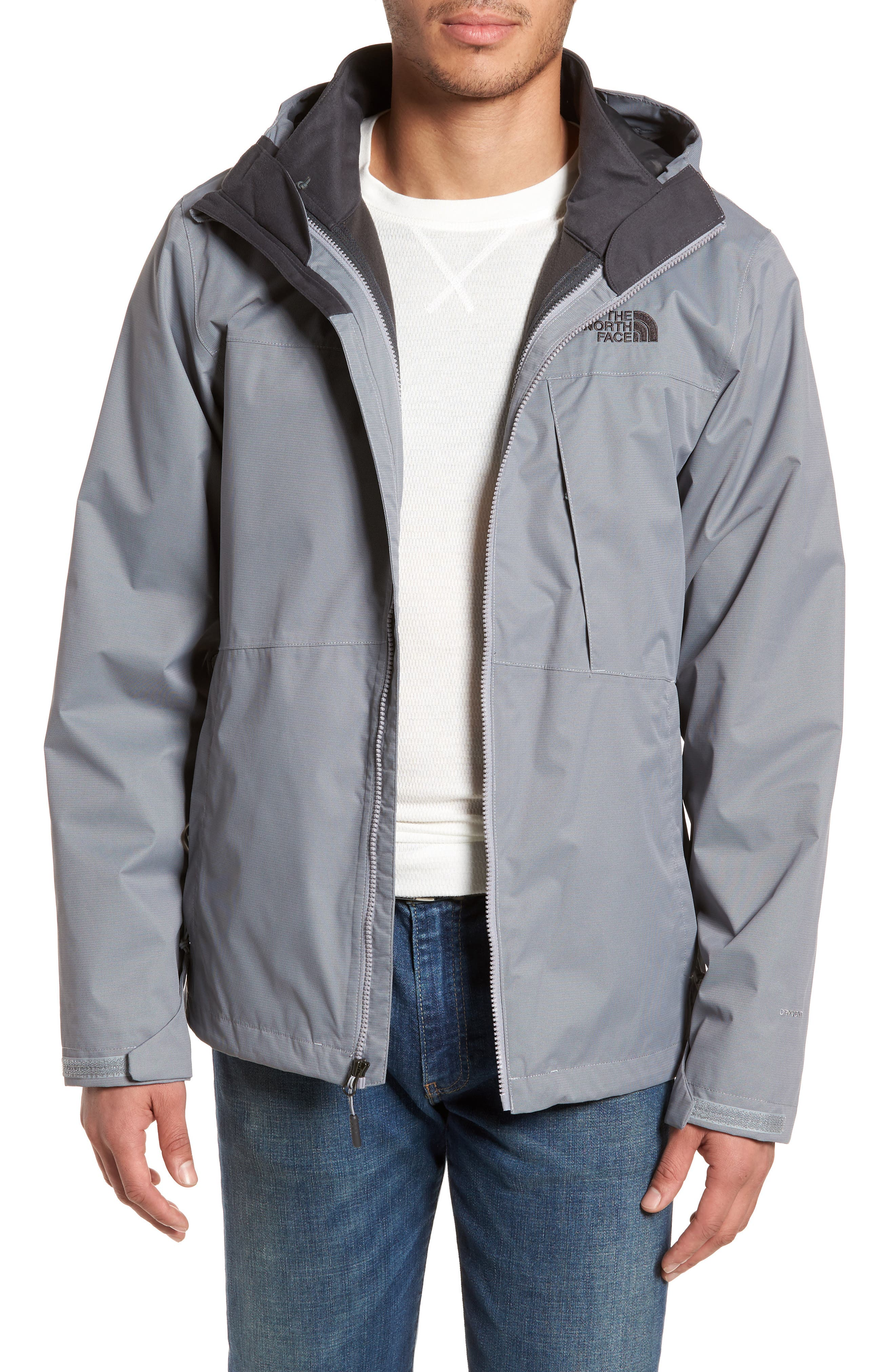 'Arrowood' TriClimate<sup>®</sup> 3-in-1 Jacket,                             Main thumbnail 1, color,                             Mid Grey