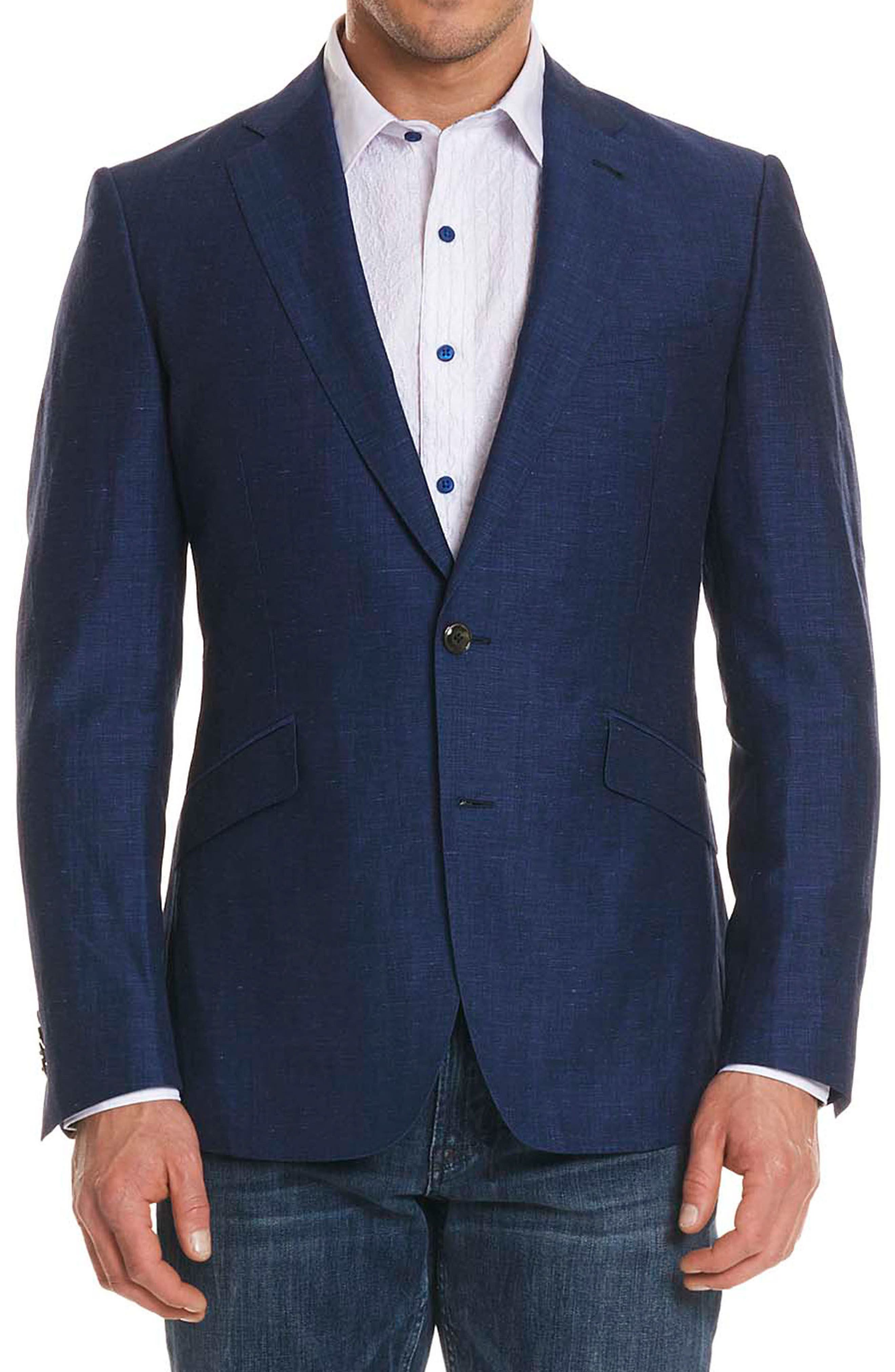 Alternate Image 1 Selected - Robert Graham Vidin Tailored Fit Linen & Wool Sportcoat