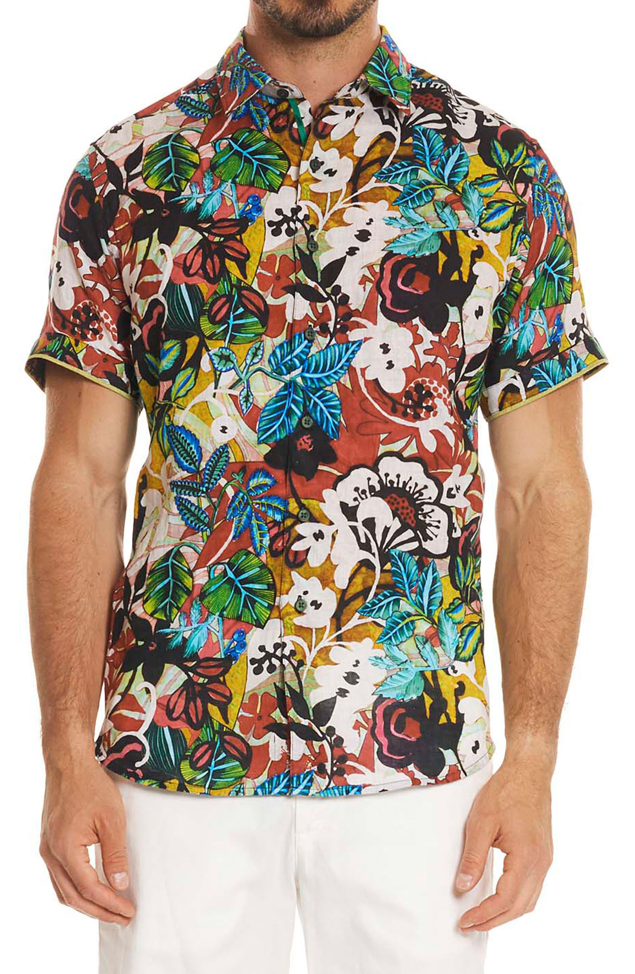 Havana Linen Sport Shirt,                         Main,                         color, Multi