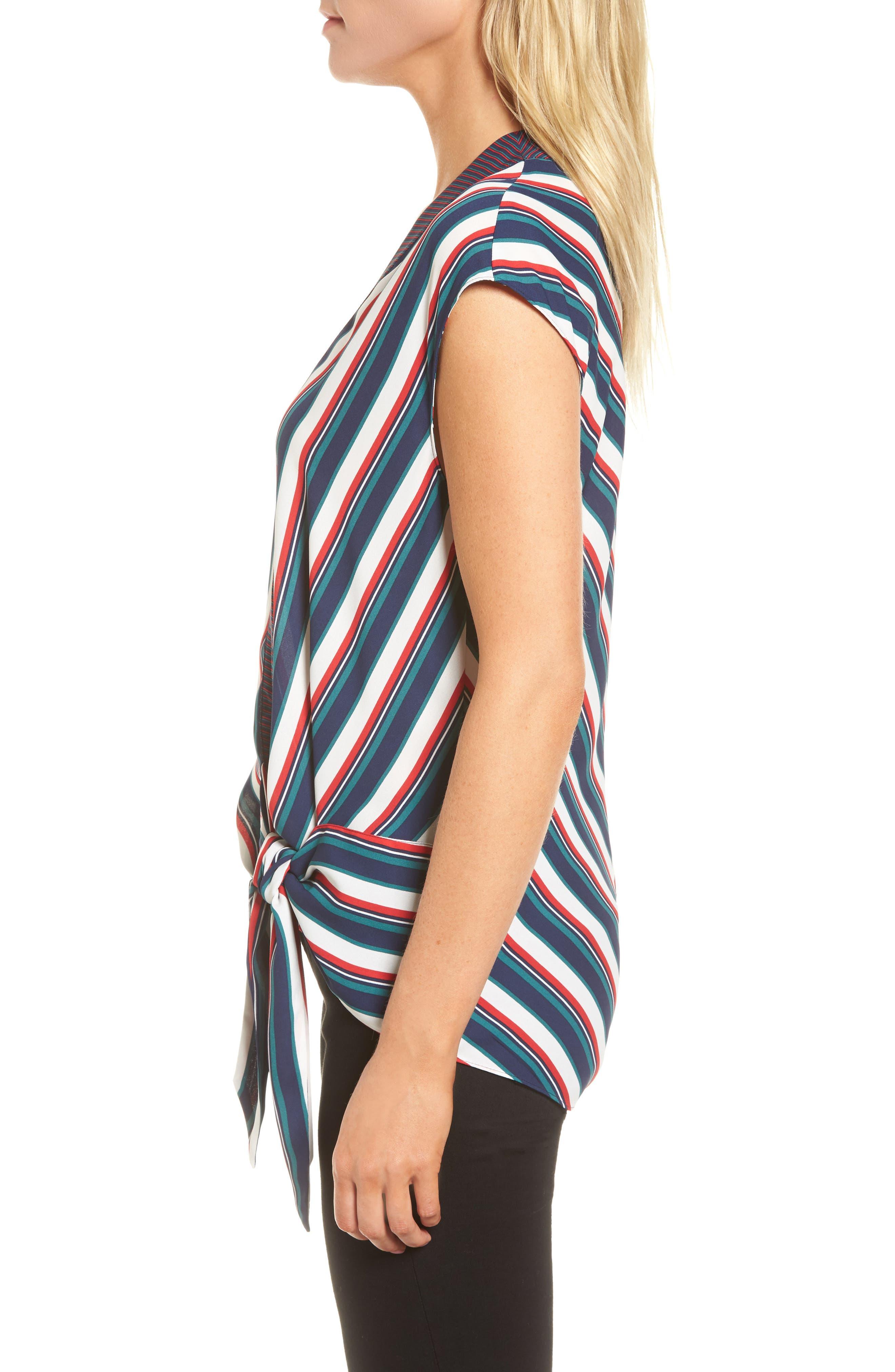 Alternate Image 3  - Trouvé Stripe Wrap Top