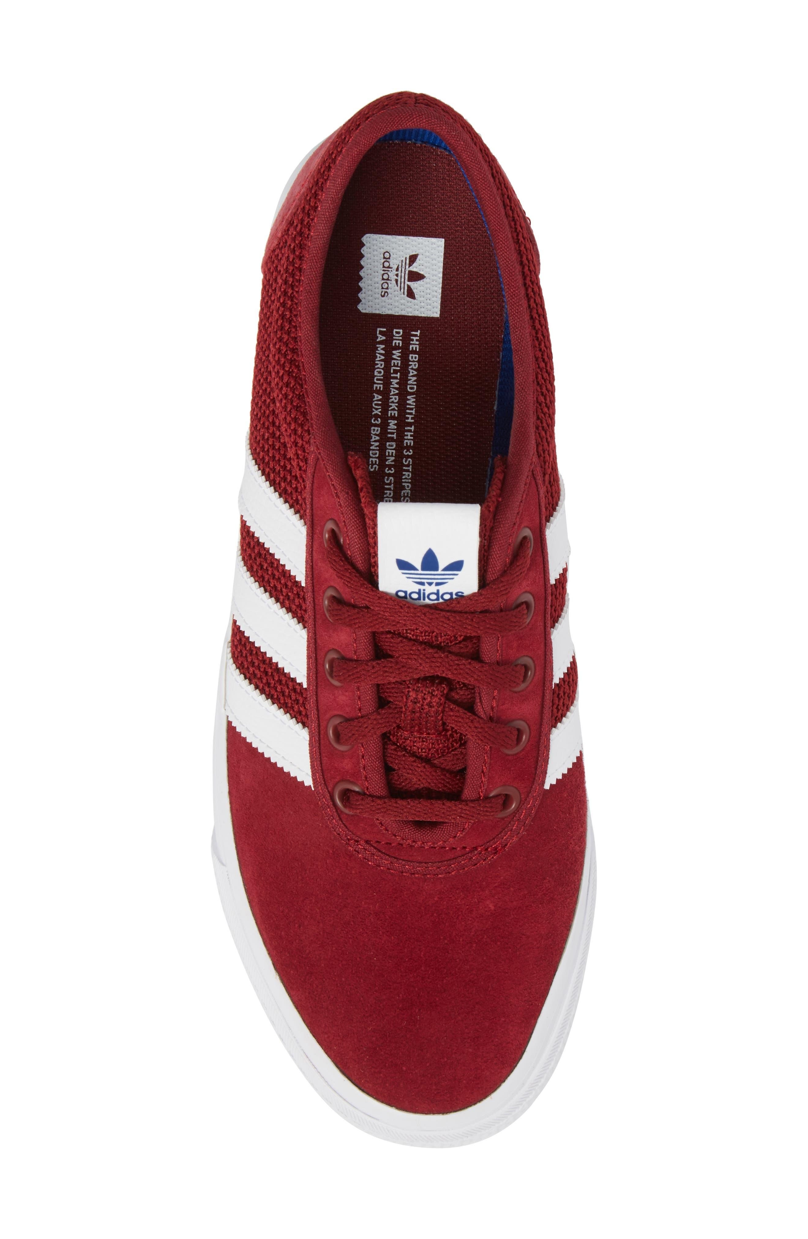 adi-Ease Sneaker,                             Alternate thumbnail 5, color,                             Burgundy/ White / Royal