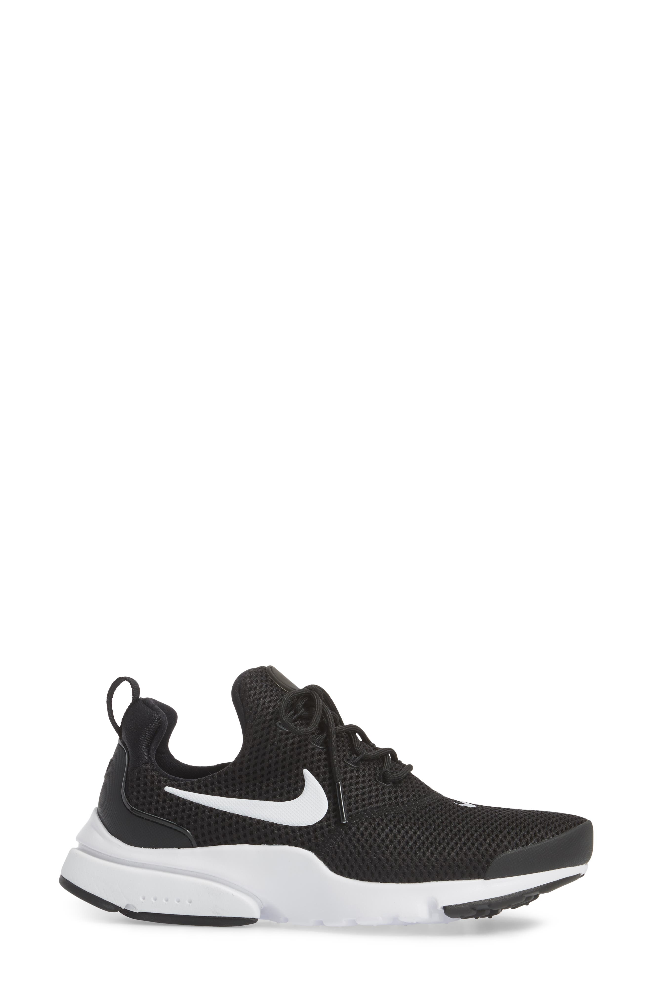 Presto Fly Sneaker,                             Alternate thumbnail 3, color,                             Black/ White/ White