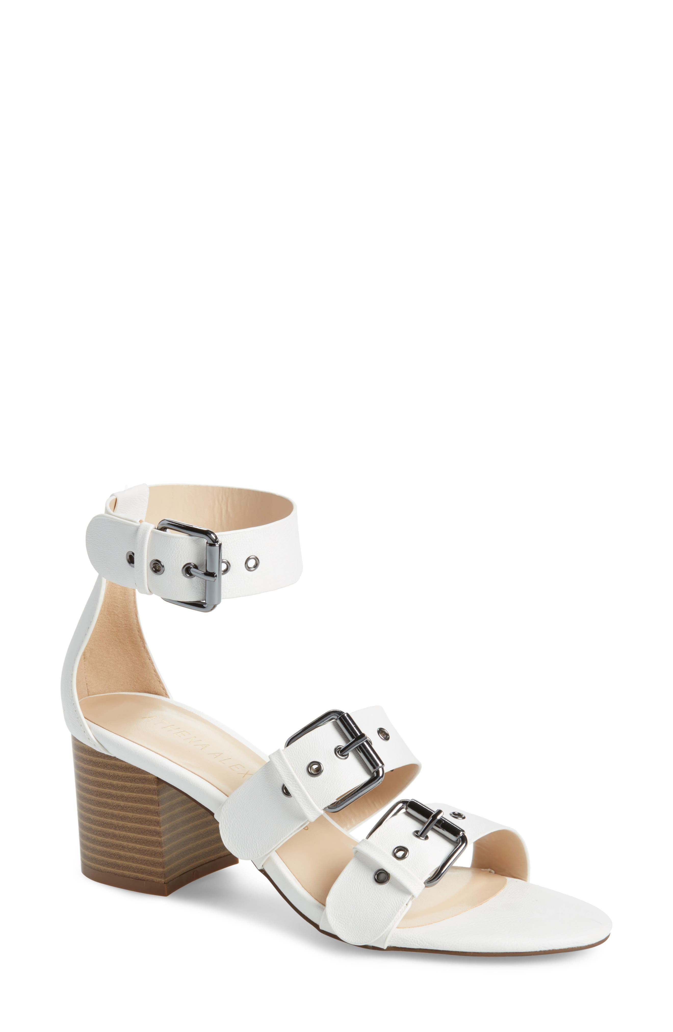 Womens Athena Alexander Londen Sandals White NGS74100