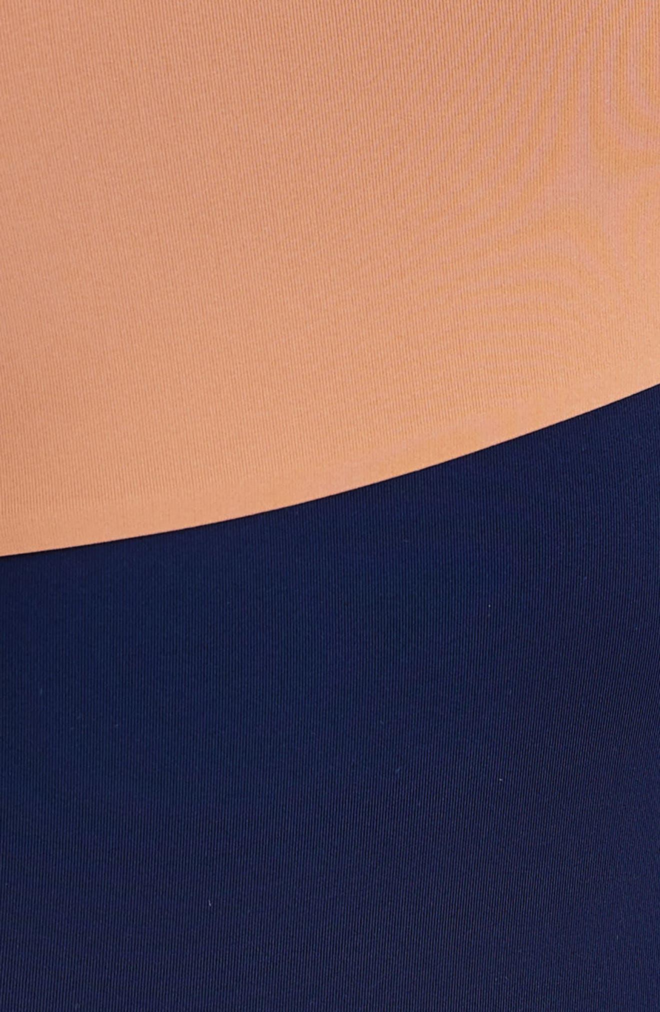 Sienna One-Shoulder Swimsuit,                             Alternate thumbnail 4, color,                             Blue Shadow/ Sandy