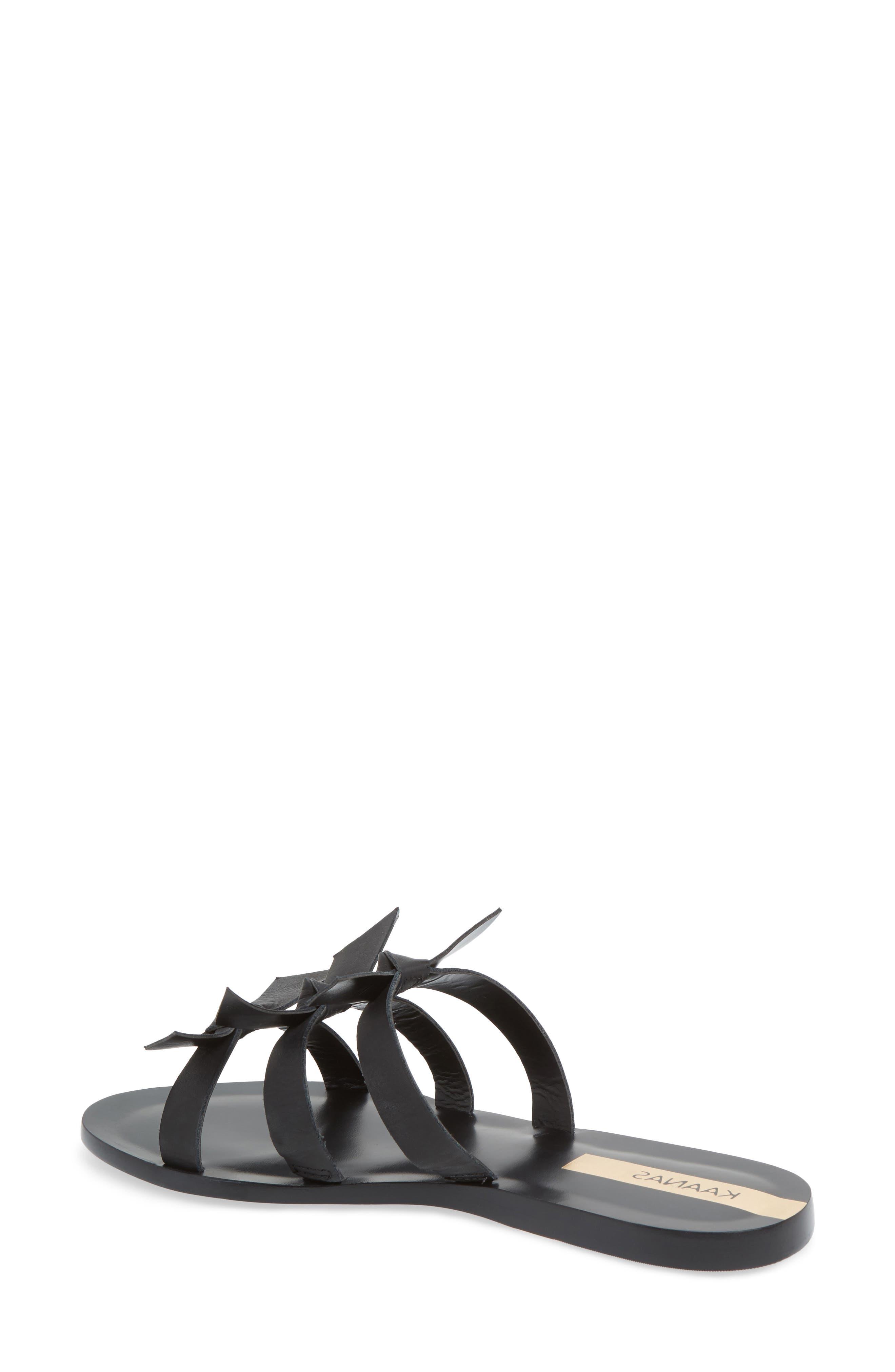 Recife Knotted Slide Sandal,                             Alternate thumbnail 2, color,                             Black