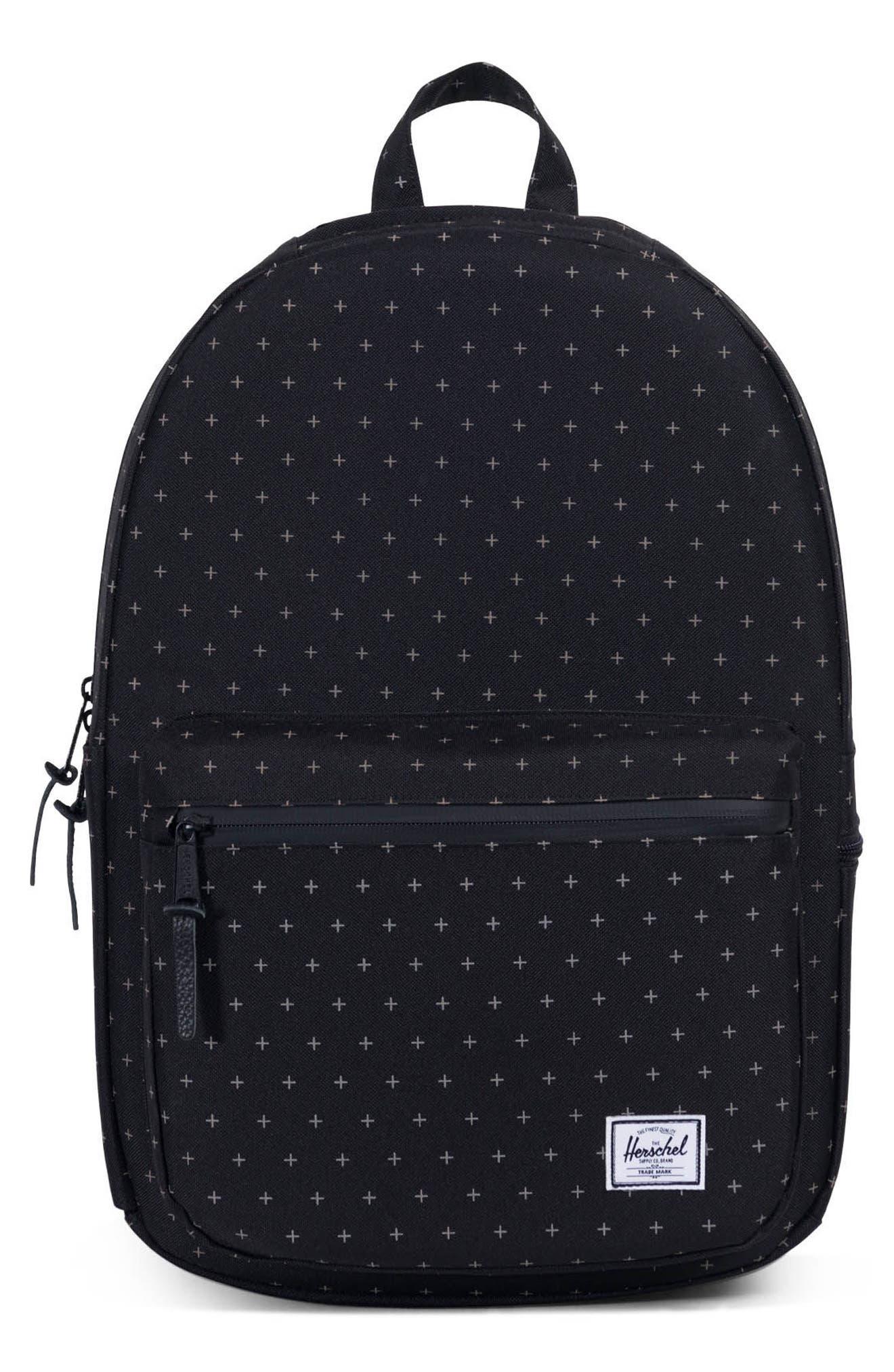 Harrison Backpack,                         Main,                         color, Black Gridlock