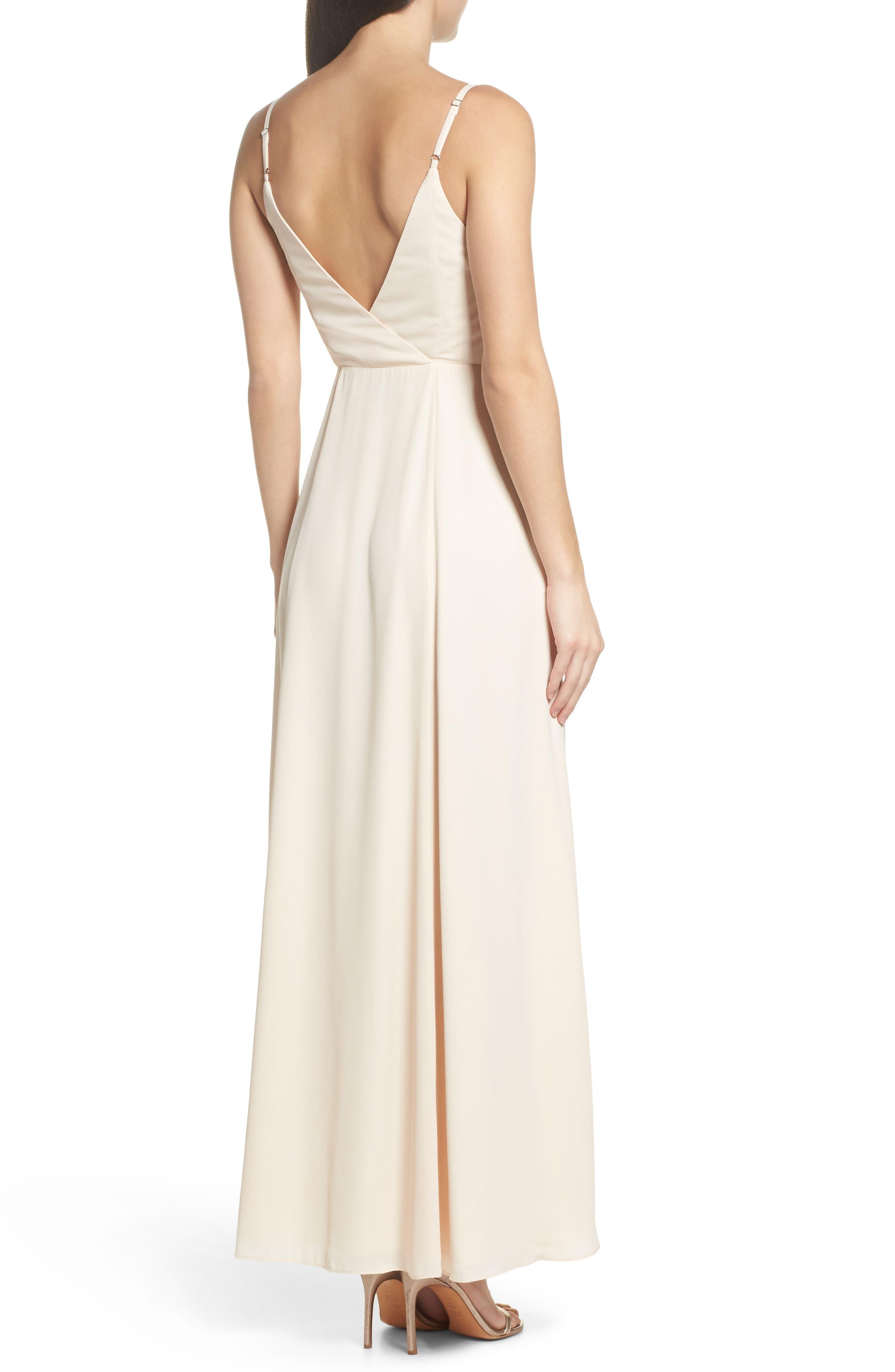 Tilbury Georgette Wrap Maxi Dress,                             Alternate thumbnail 2, color,                             Champagne