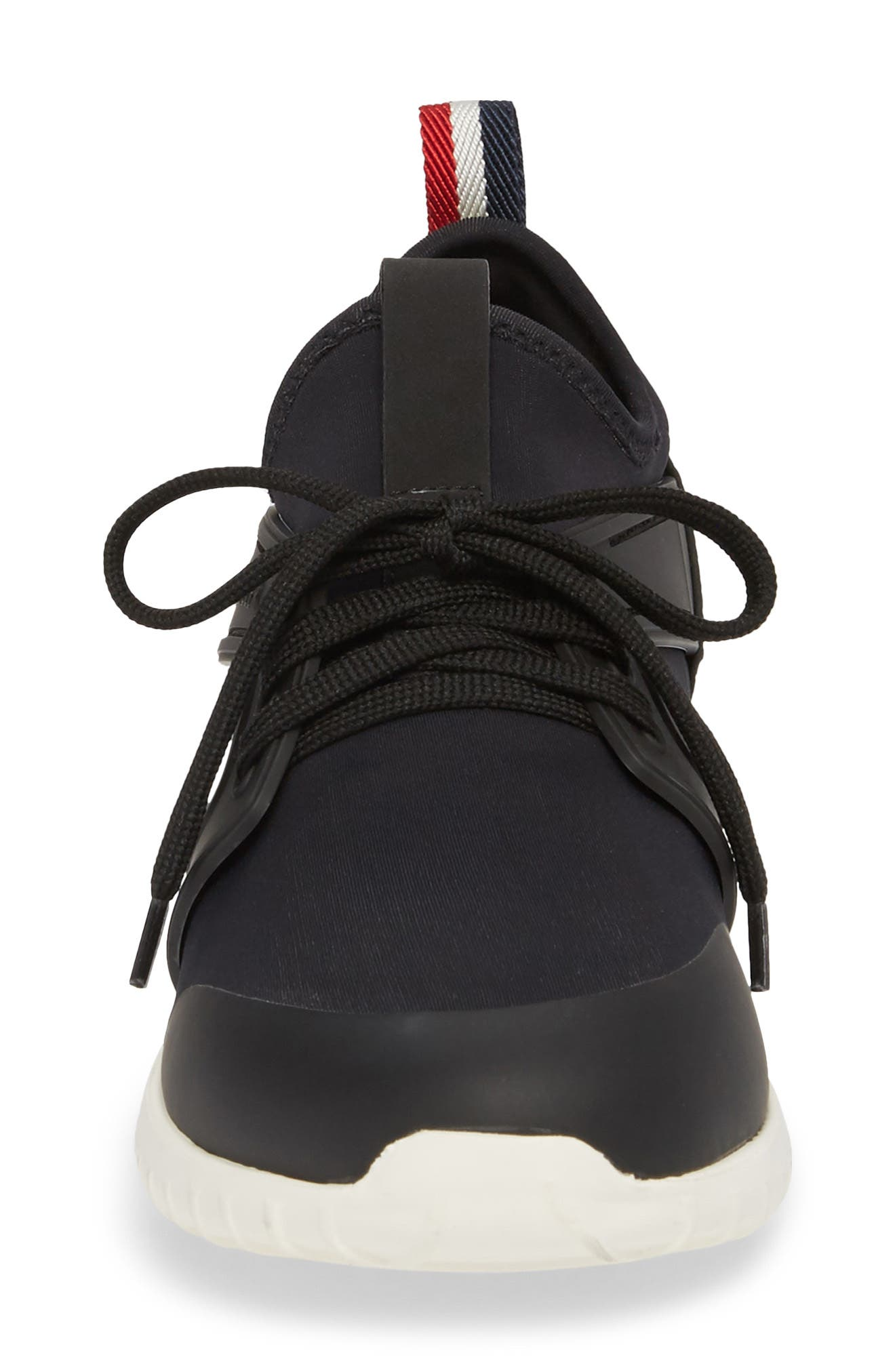 Meline Lace-Up Sneaker,                             Alternate thumbnail 4, color,                             Black