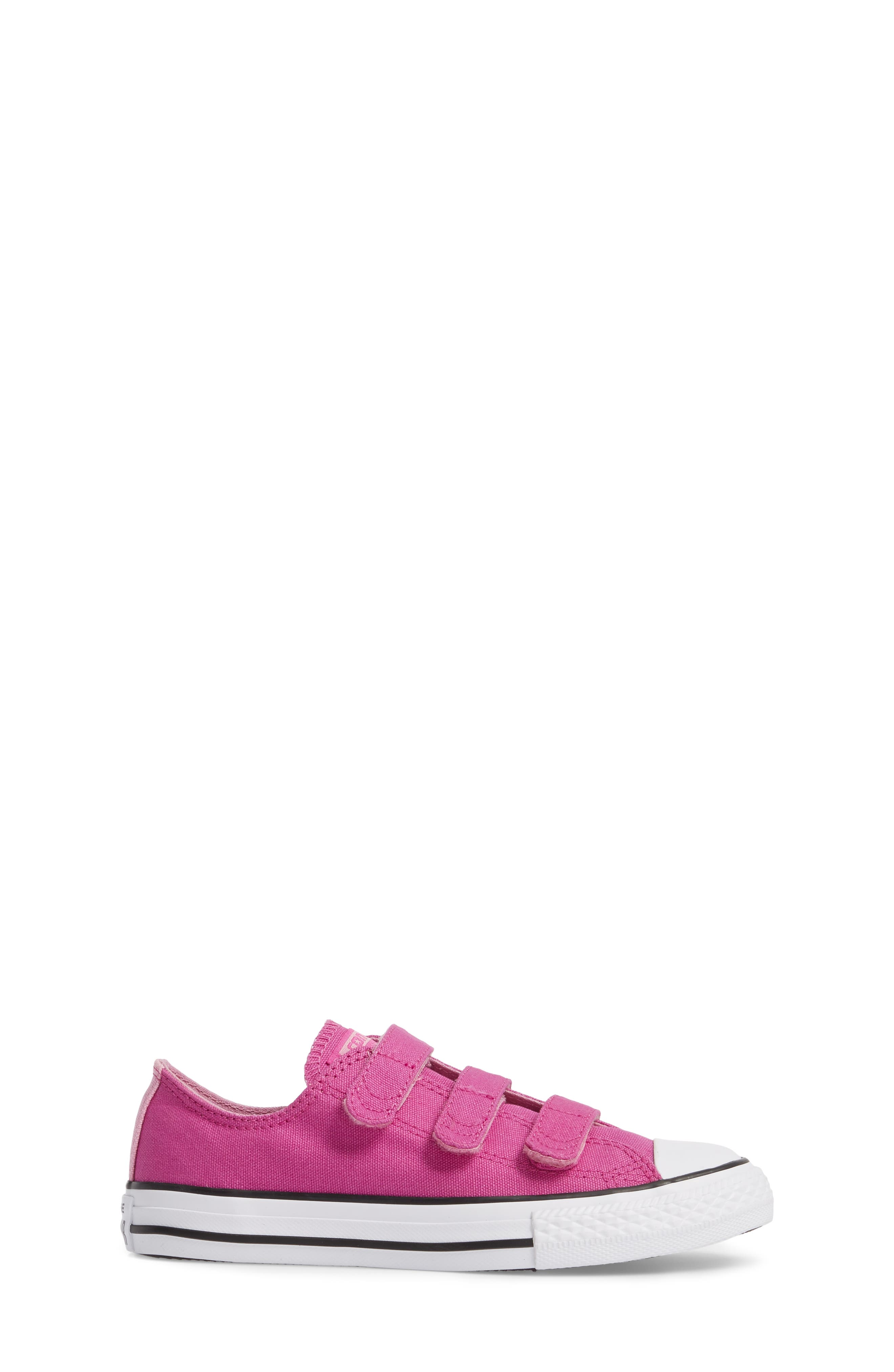 Chuck Taylor<sup>®</sup> All Star<sup>®</sup> 3V Low Top Sneaker,                             Alternate thumbnail 3, color,                             Hyper Magenta