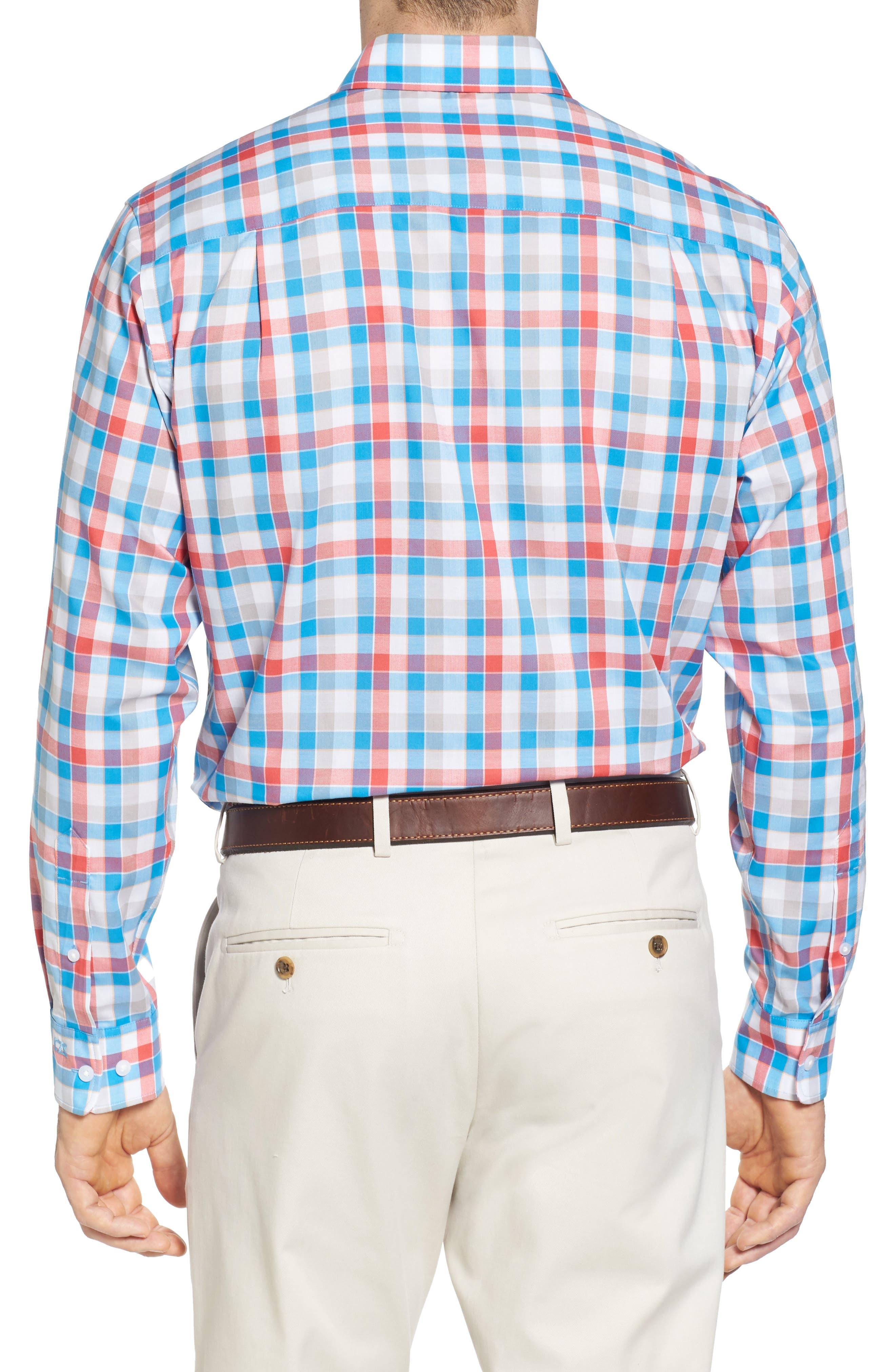 Alternate Image 2  - Cutter & Buck Dylan Easy Care Plaid Sport Shirt