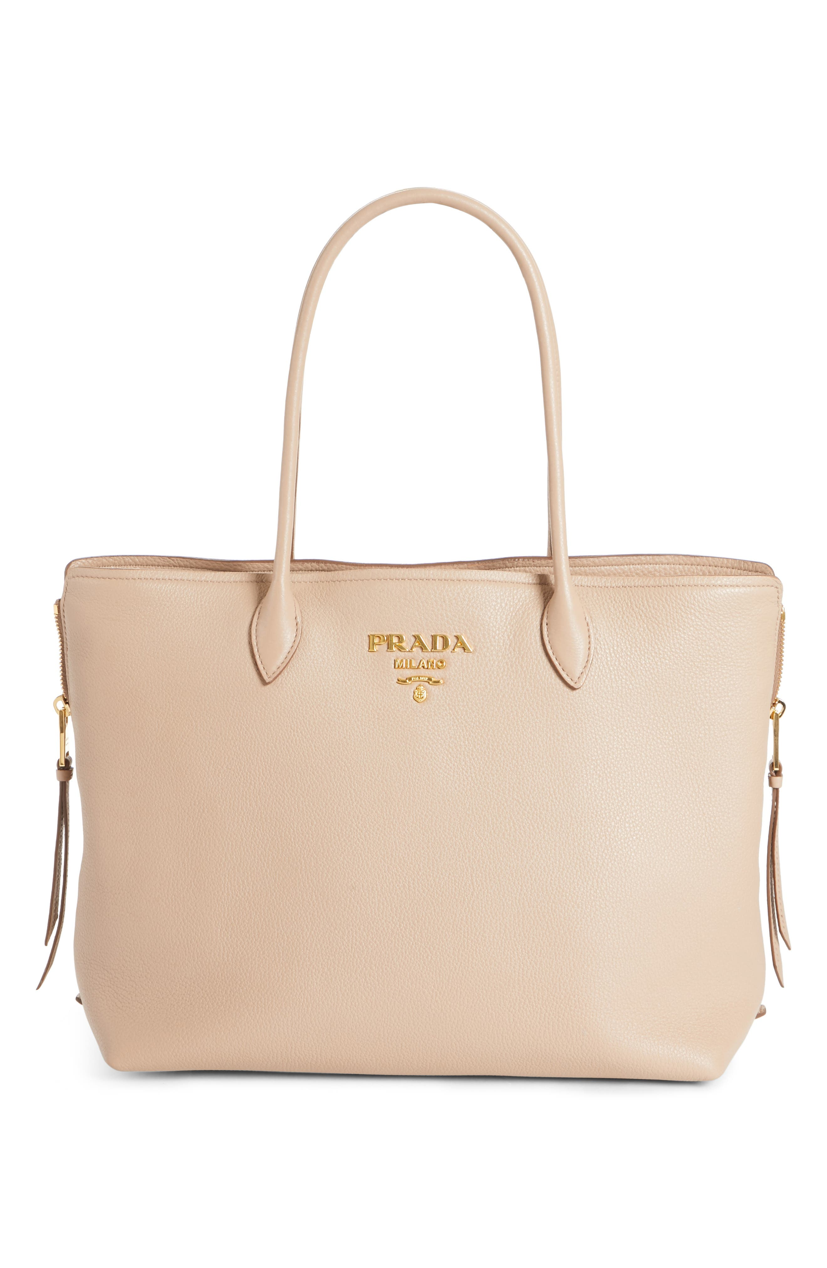 71d114446ce713 ... best price prada tote bags for women leather coated canvas neoprene  nordstrom 37135 f748e