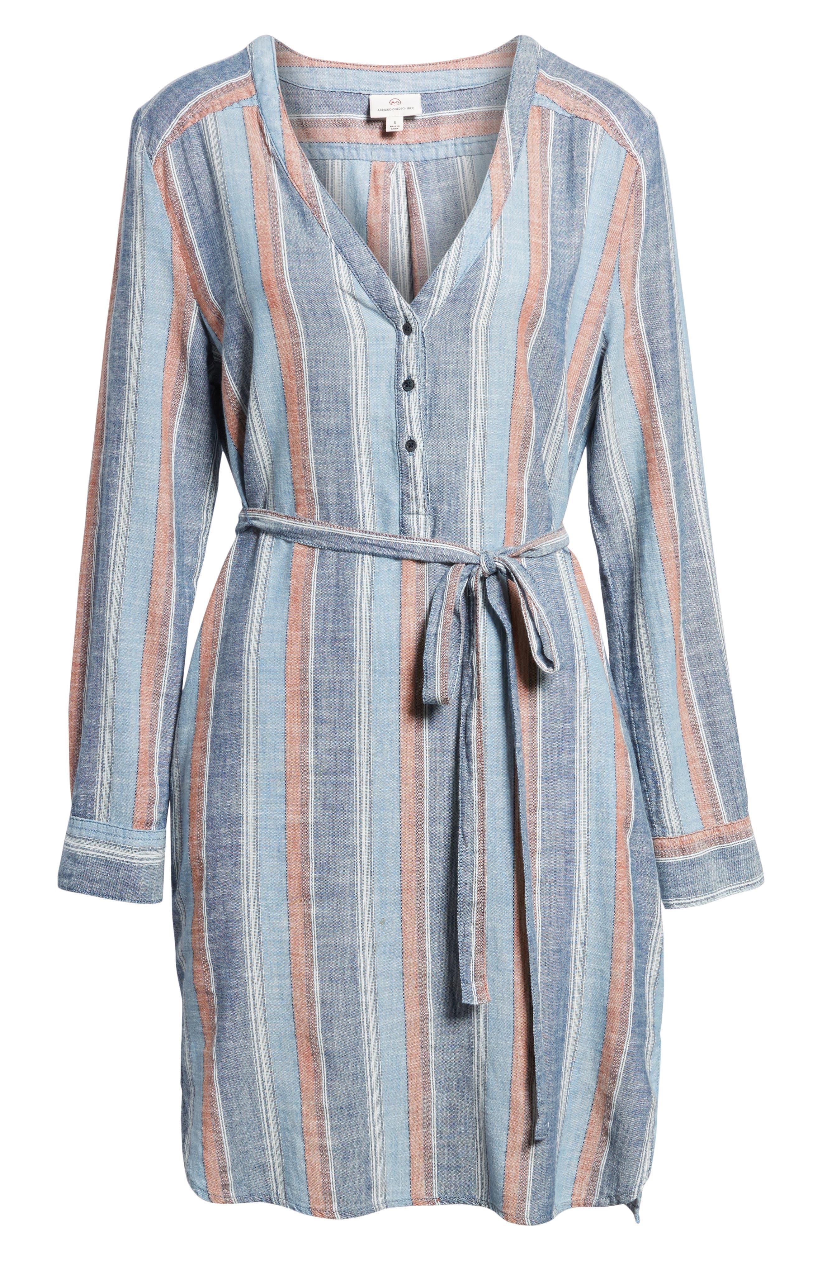 Anna Henley Dress,                             Alternate thumbnail 6, color,                             Blue Fig Multi