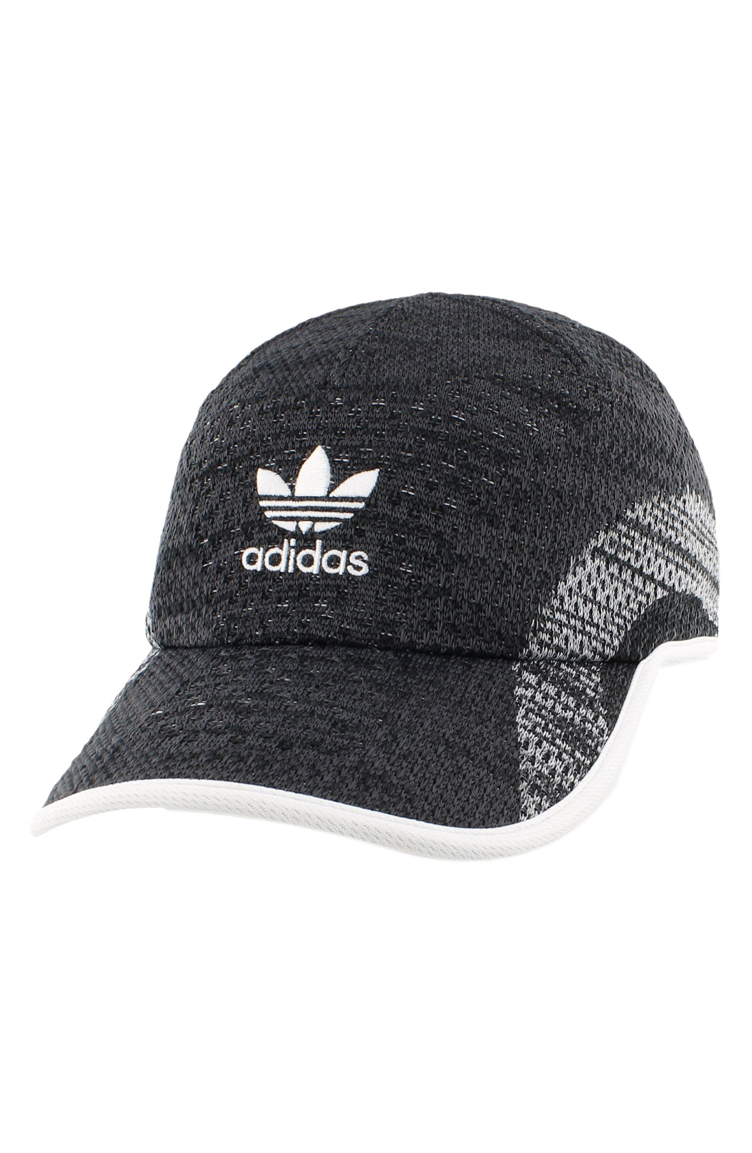 Primeknit Ball Cap,                             Main thumbnail 1, color,                             Black/ Dark Grey/ White