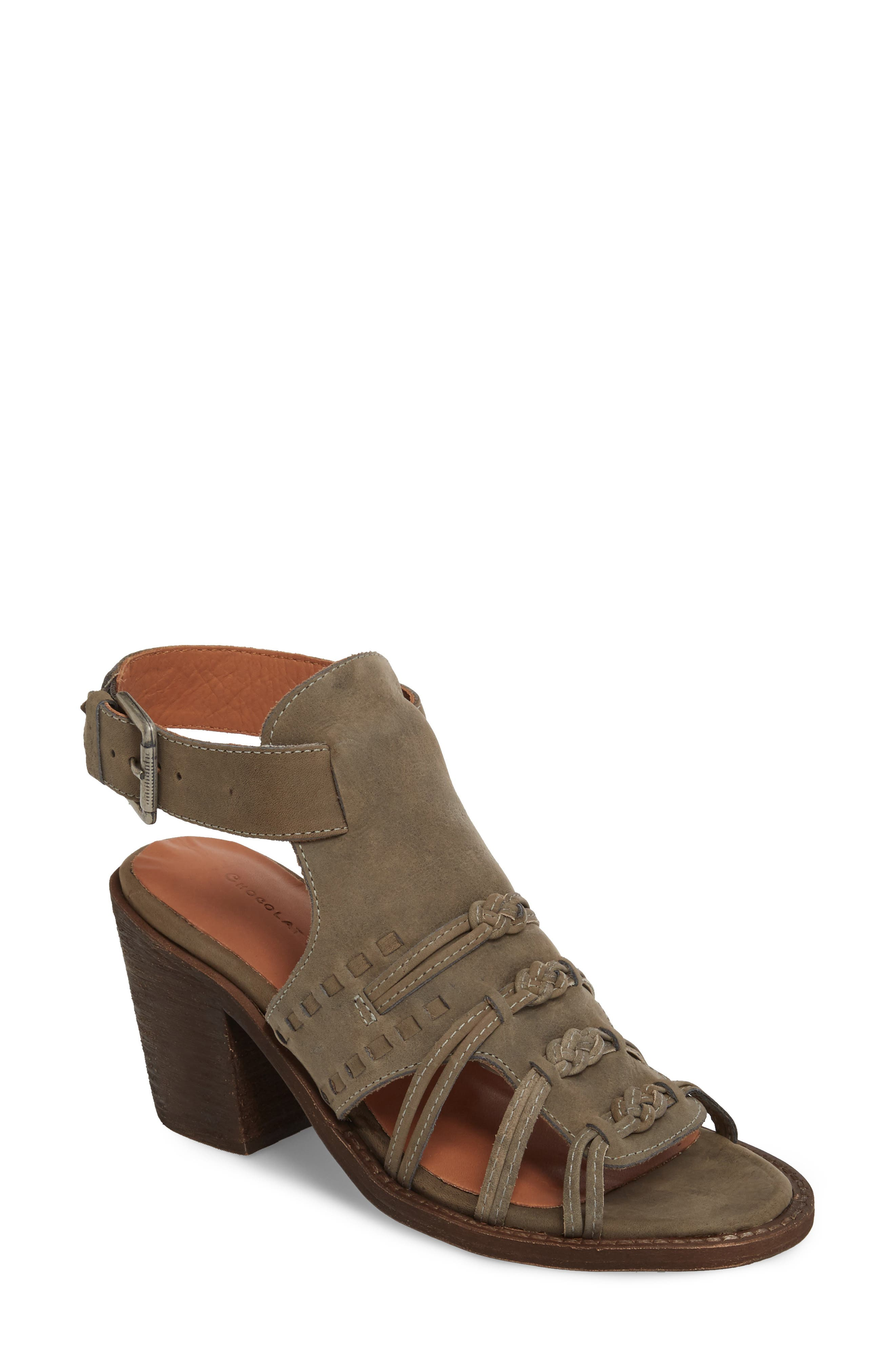 Volcano Sandal,                         Main,                         color, Grey Leather