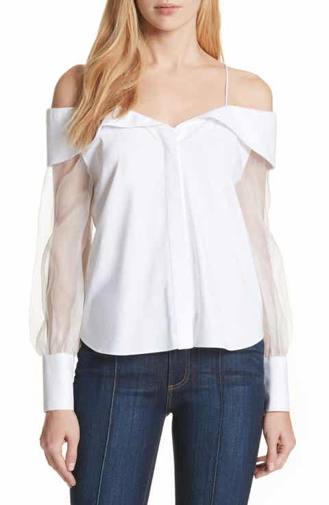 Alice + Olivia Prim Puff Sleeve Blouse