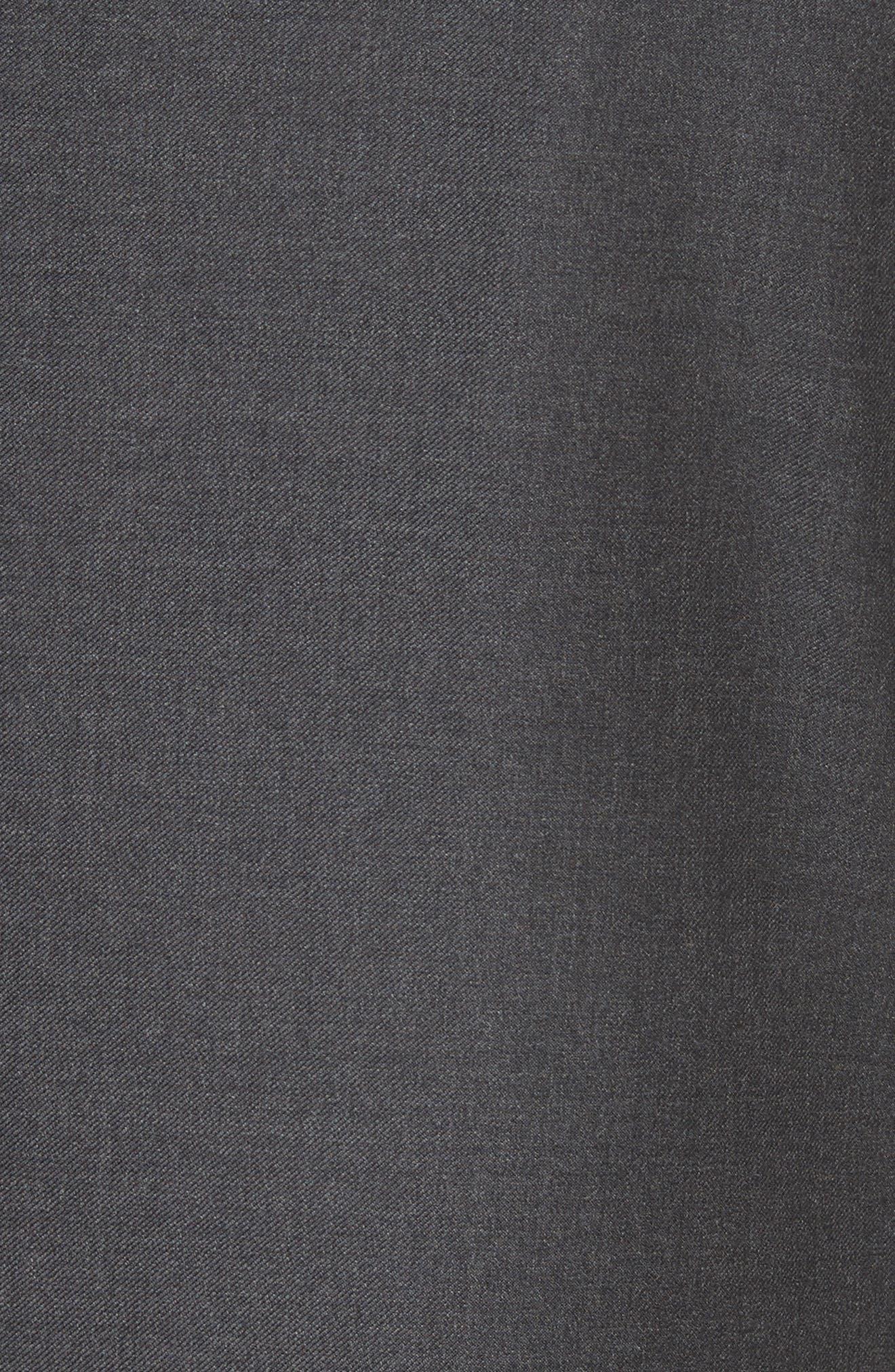 Trim Fit Solid Wool Suit,                             Alternate thumbnail 7, color,                             Grey