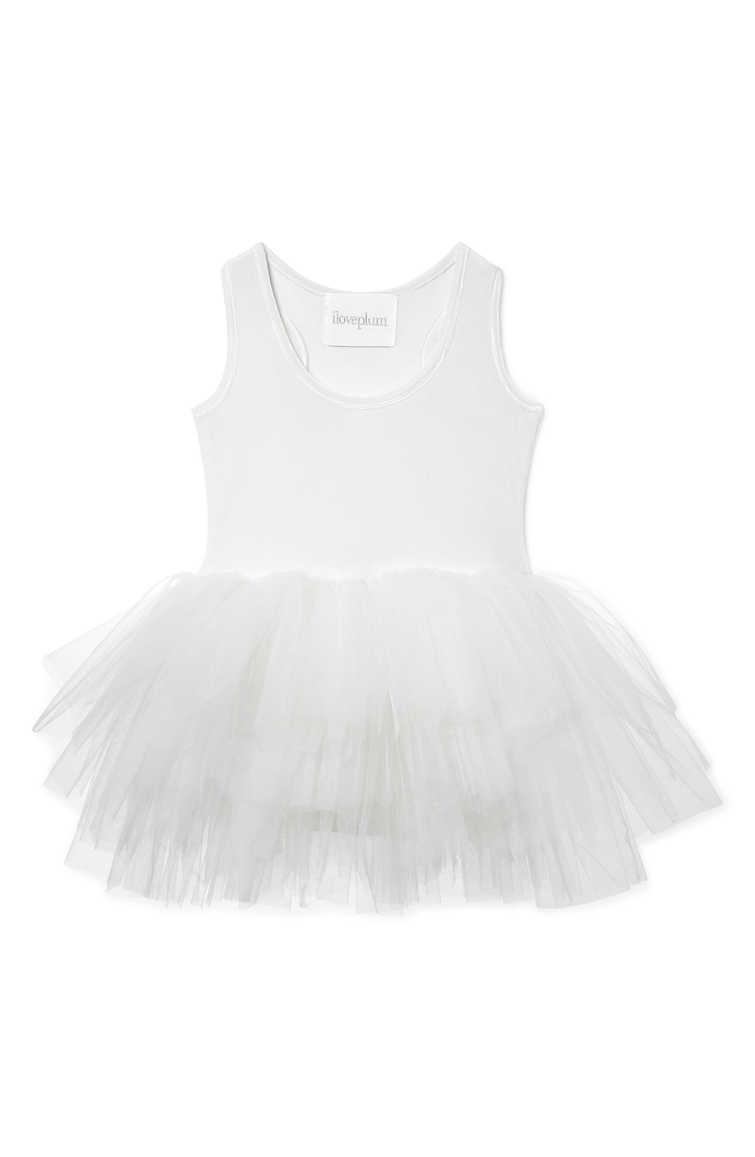 Tutu Dress,                             Main thumbnail 1, color,                             White