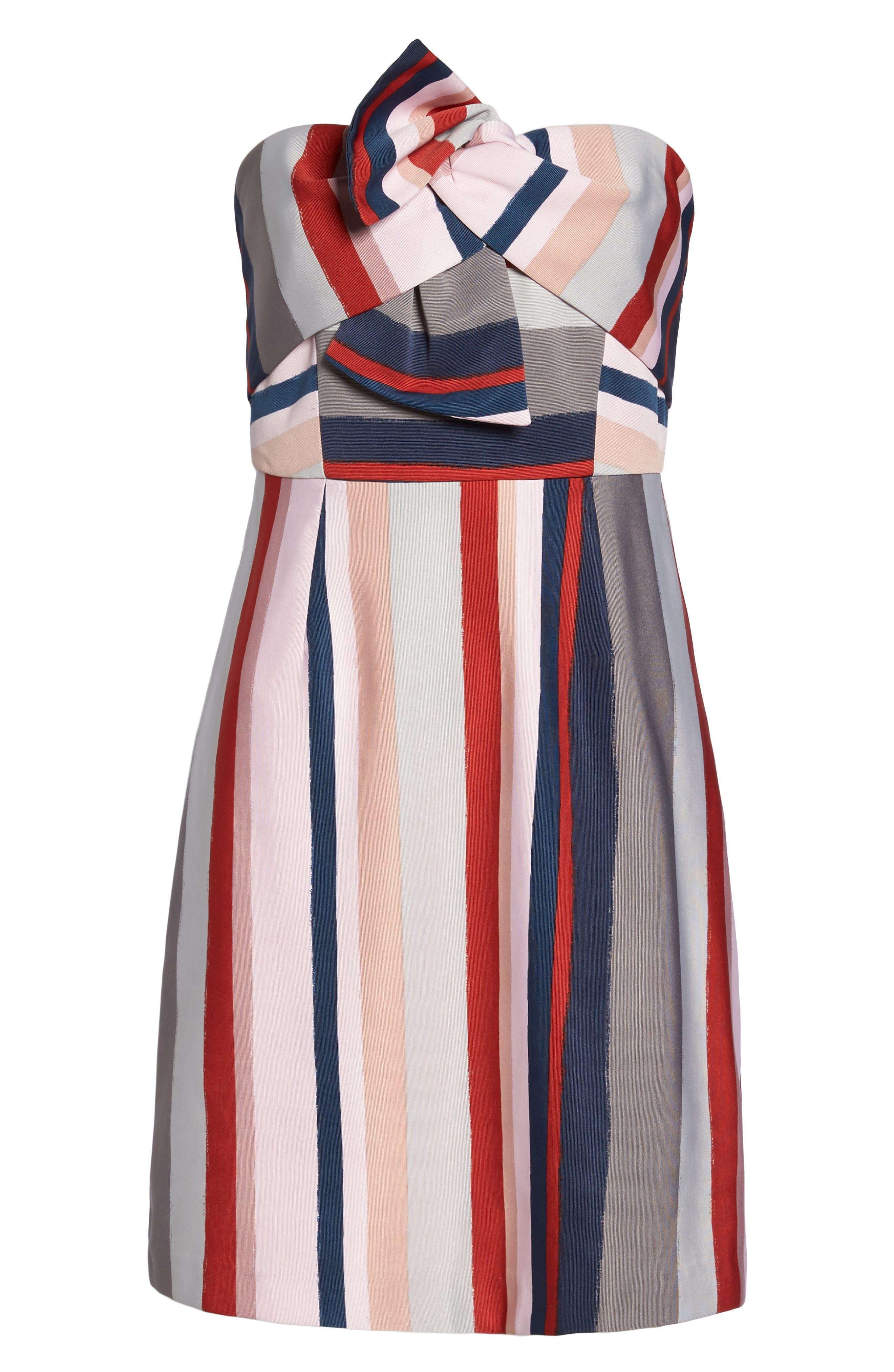 Alternate Image 6  - Sam Edelman Stripe Strapless Dress