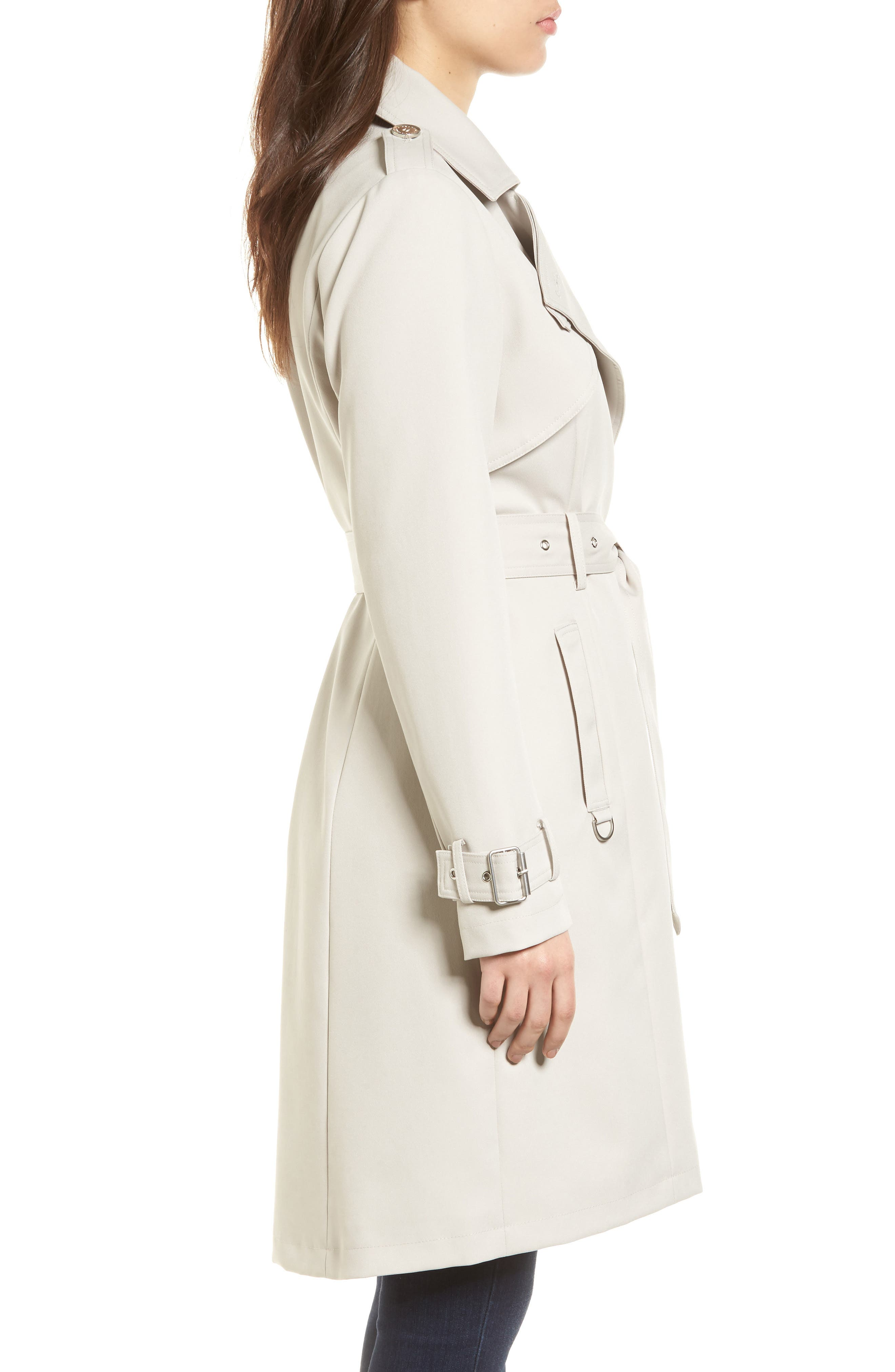 Alternate Image 3  - French Connection Flowy Belted Trench Coat