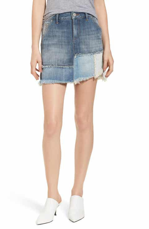 True Religion Brand Jeans Patchwork Denim Miniskirt