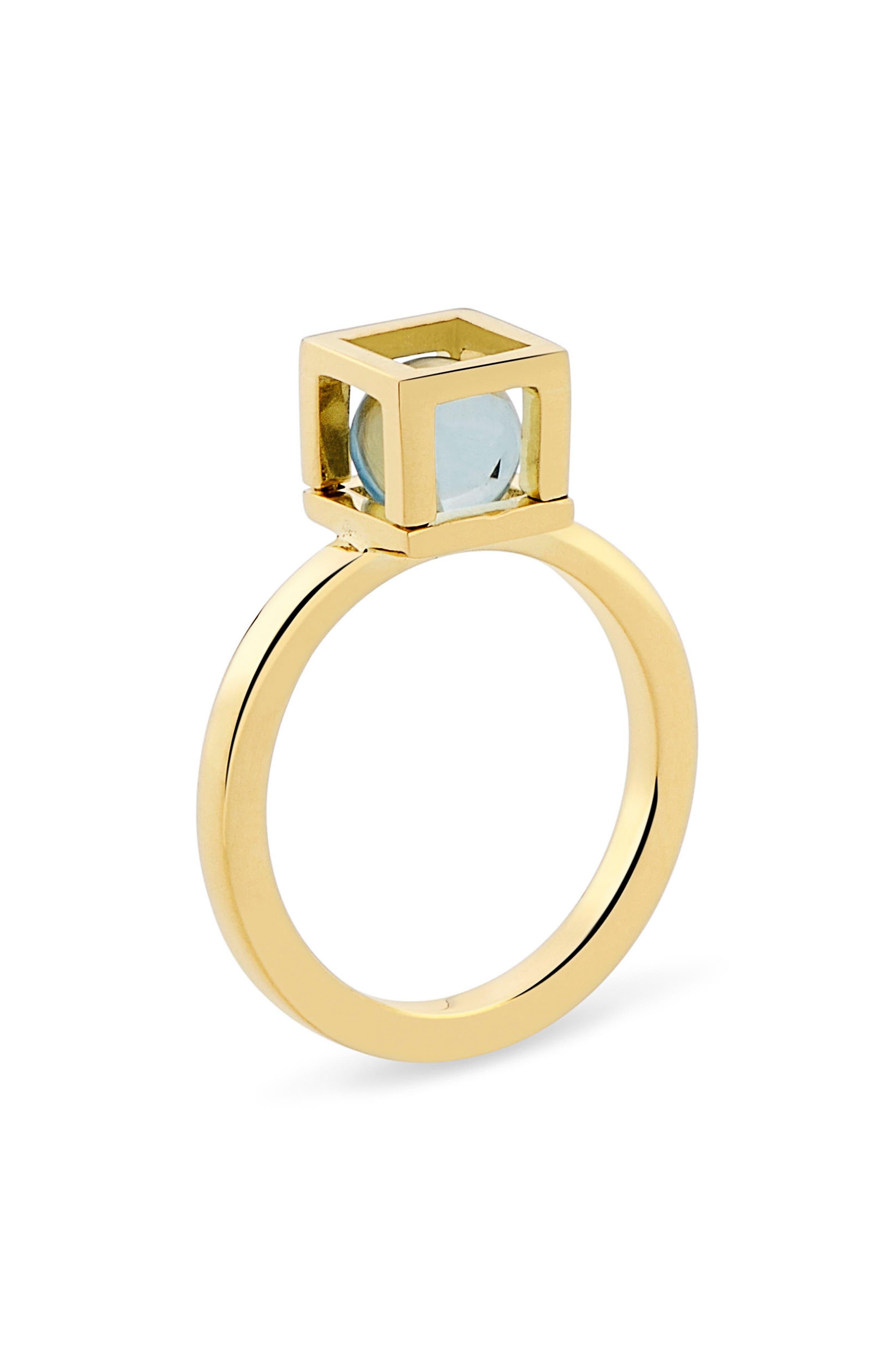 Solo Blue Topaz Ring,                         Main,                         color, Blue Topaz