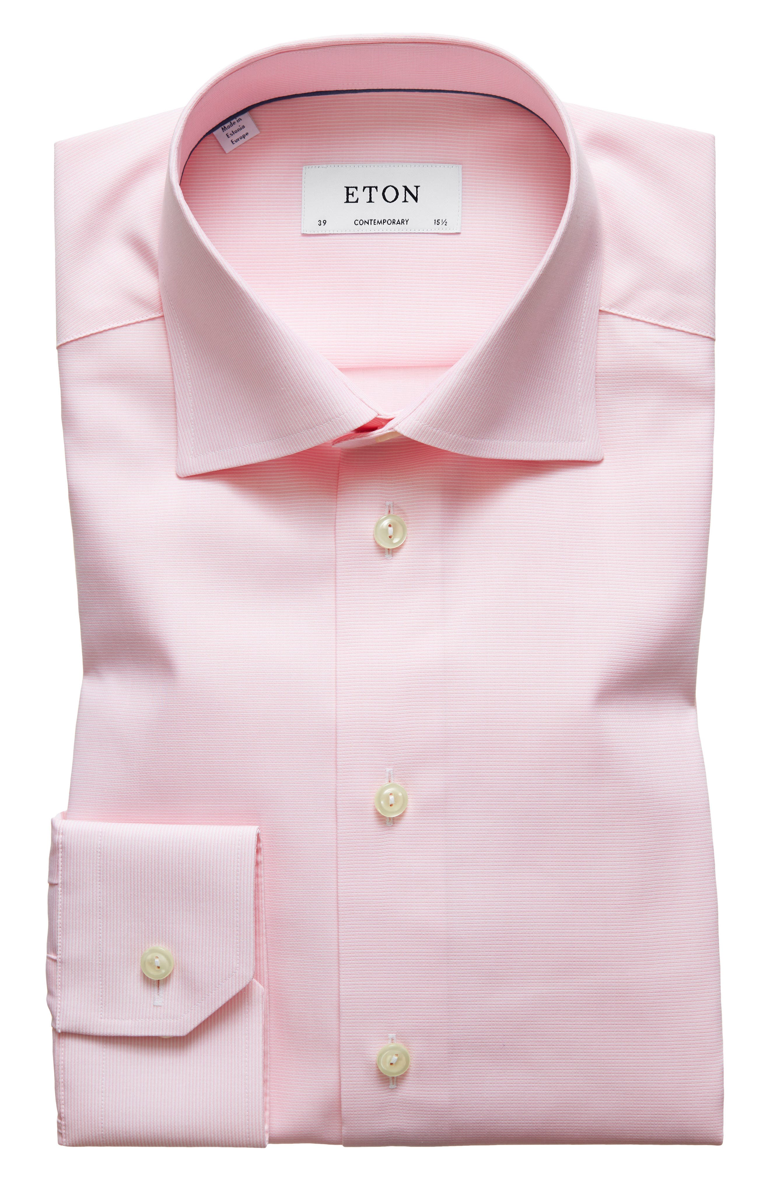 Contemporary Fit Solid Dress Shirt,                         Main,                         color, Pink