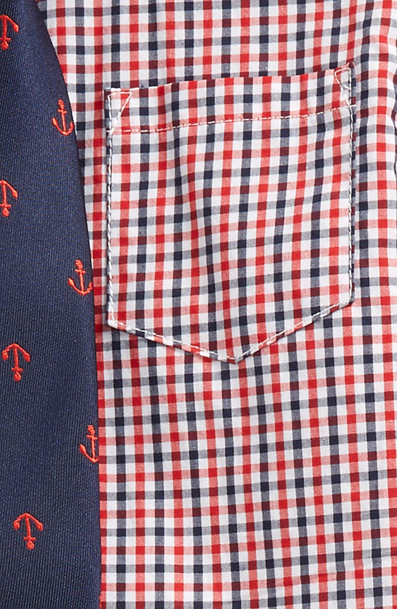 Check Shirt, Pants & Tie Set,                             Alternate thumbnail 2, color,                             Tan