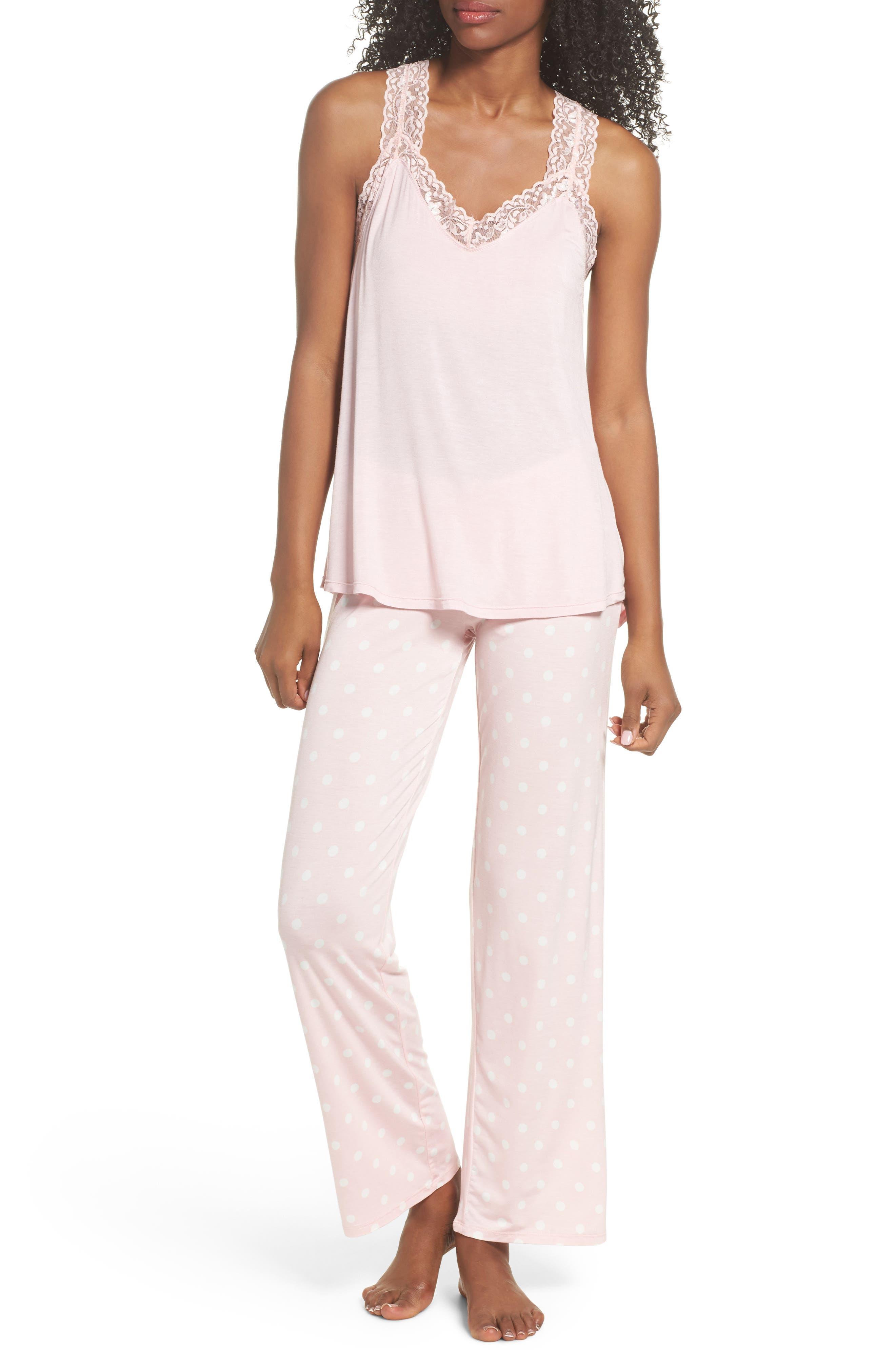 Drawstring Pajama Pants,                             Alternate thumbnail 6, color,                             Pink