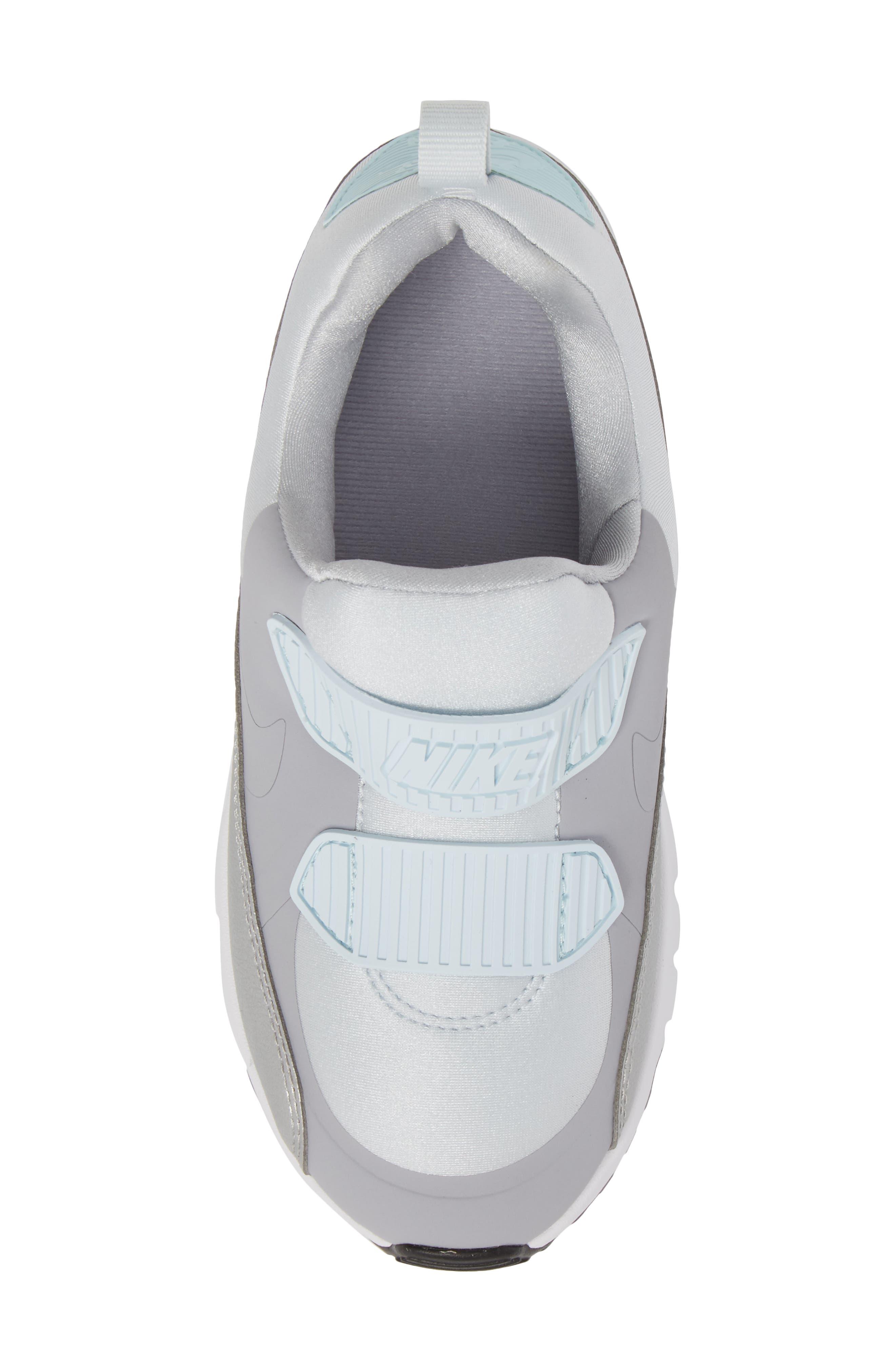 Air Max Tiny 90 Sneaker,                             Alternate thumbnail 5, color,                             Platinum/ Grey/ Silver