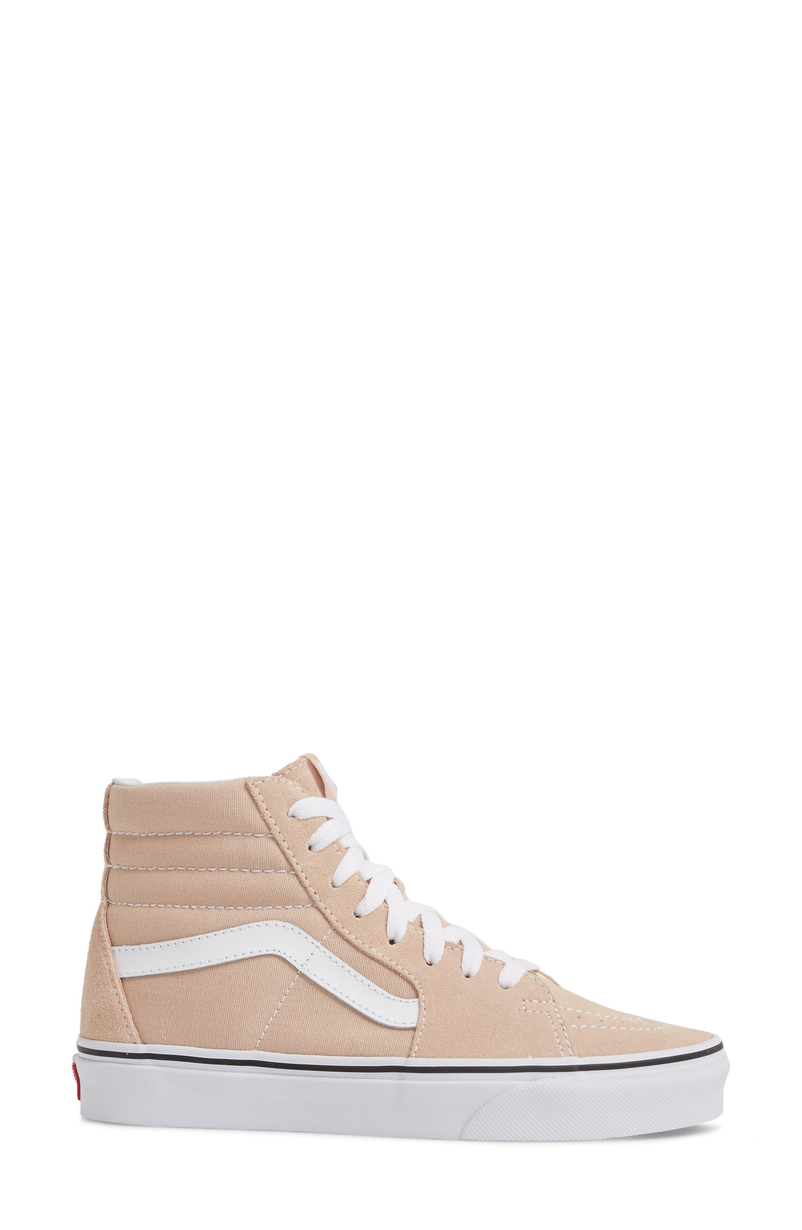 'Sk8-Hi Slim' Sneaker,                             Alternate thumbnail 4, color,                             Frappe/ True White