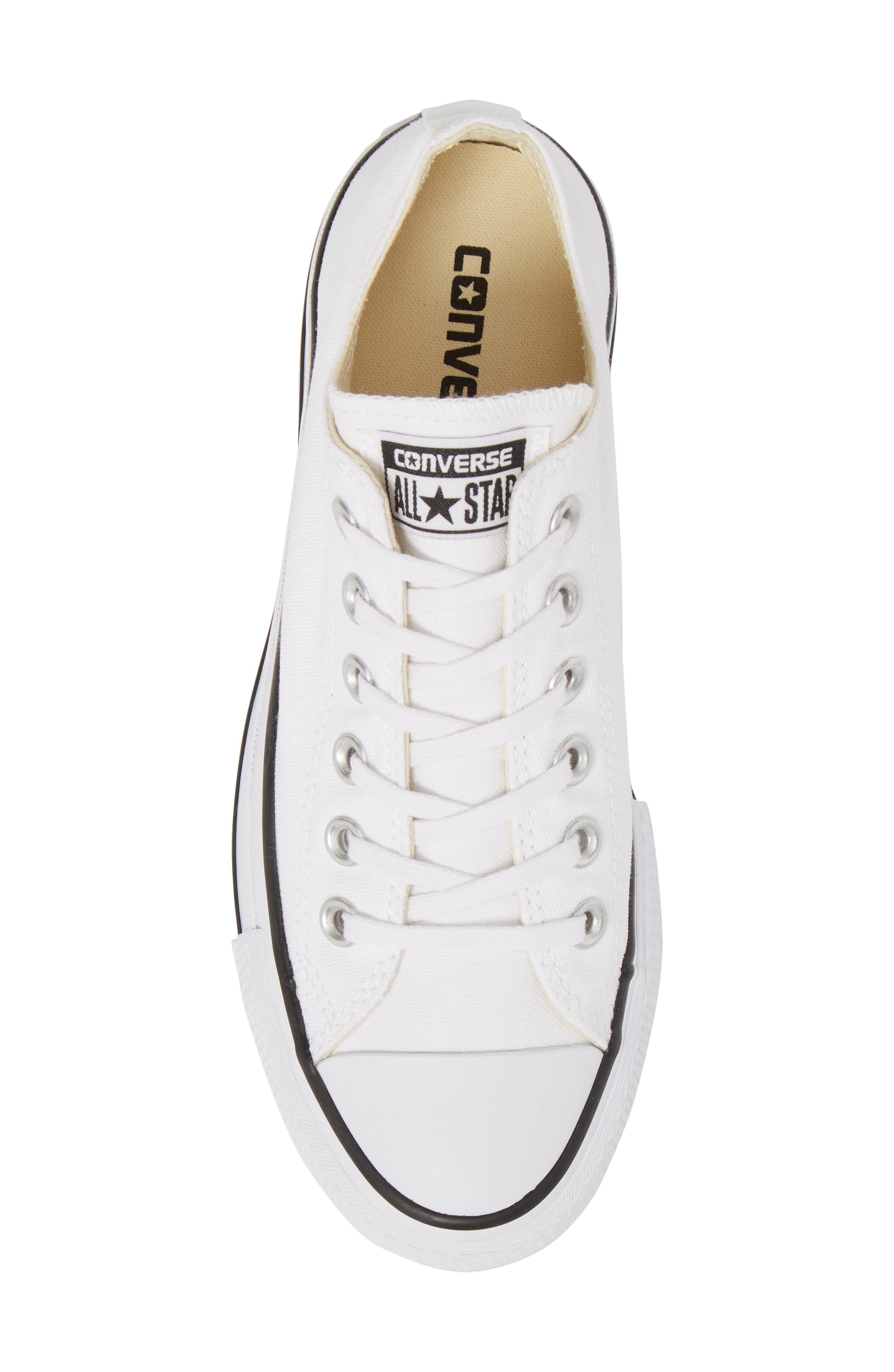Chuck Taylor<sup>®</sup> All Star<sup>®</sup> Platform Sneaker,                             Alternate thumbnail 5, color,                             White/ Black/ White