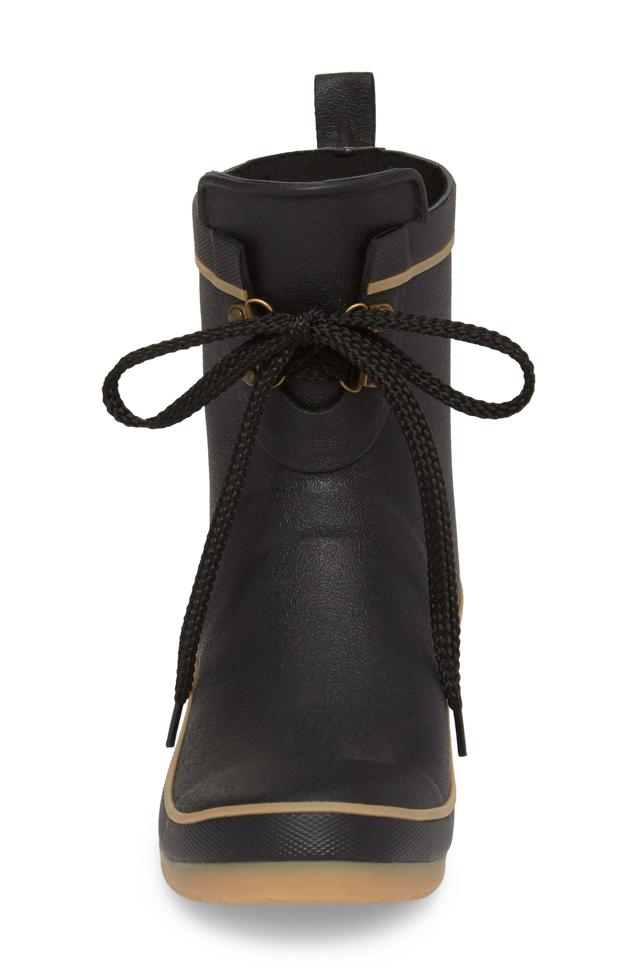 Whidbey Rain Boot,                             Alternate thumbnail 4, color,                             Black