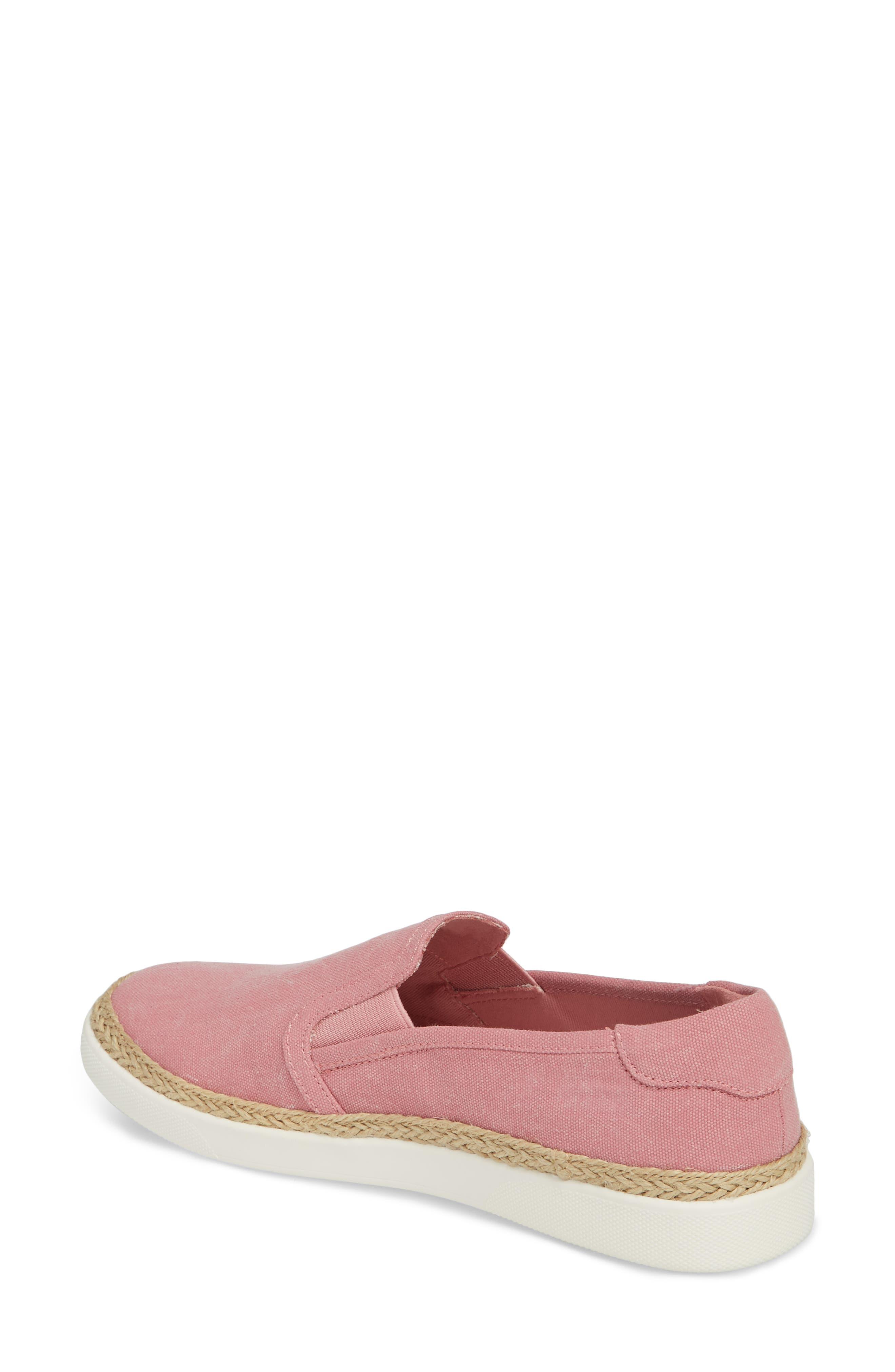 Rae Slip-On Sneaker,                             Alternate thumbnail 2, color,                             Light Pink Canvas