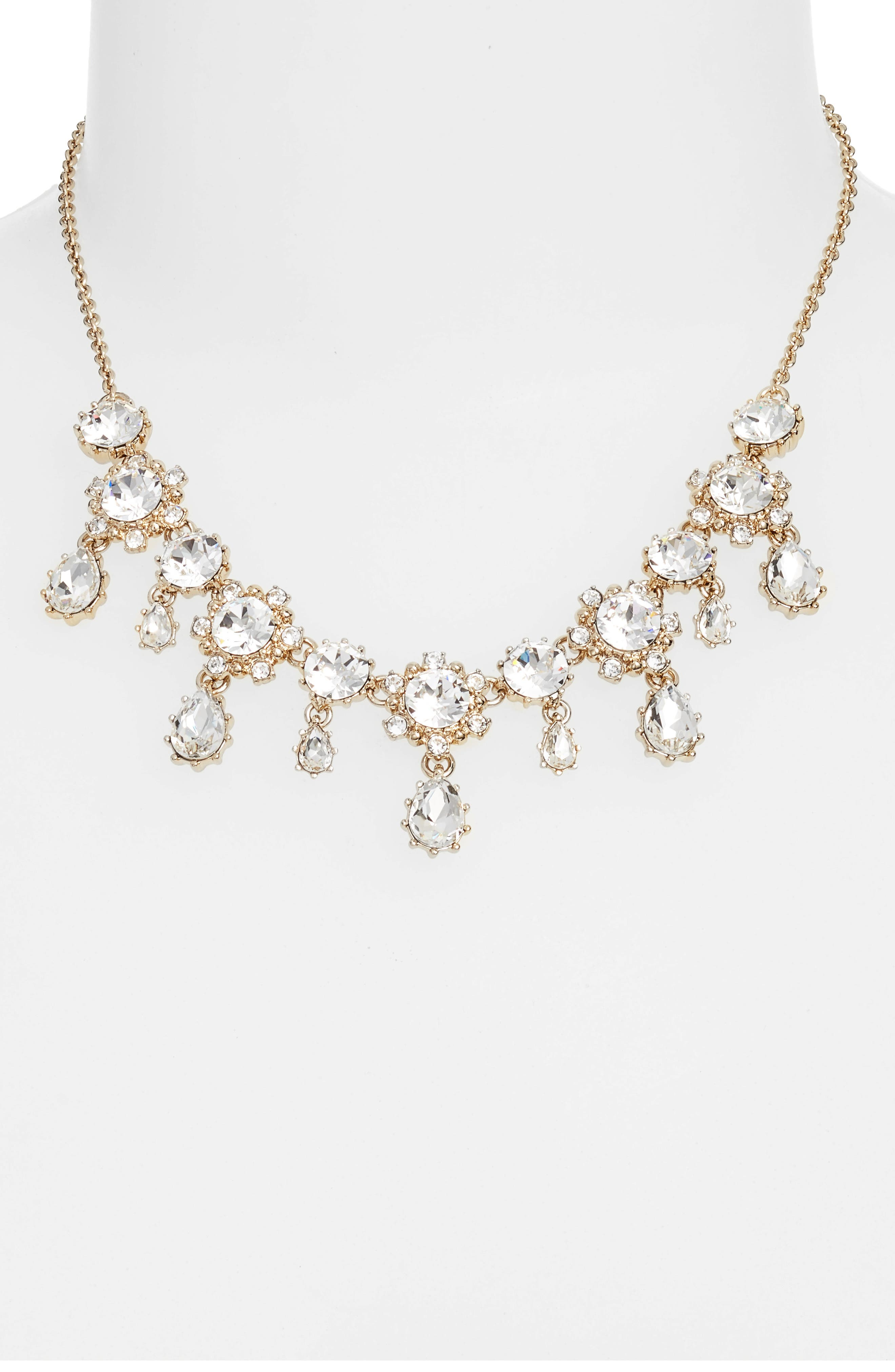 Crystal Drop Necklace,                         Main,                         color, Gold/ Crystal