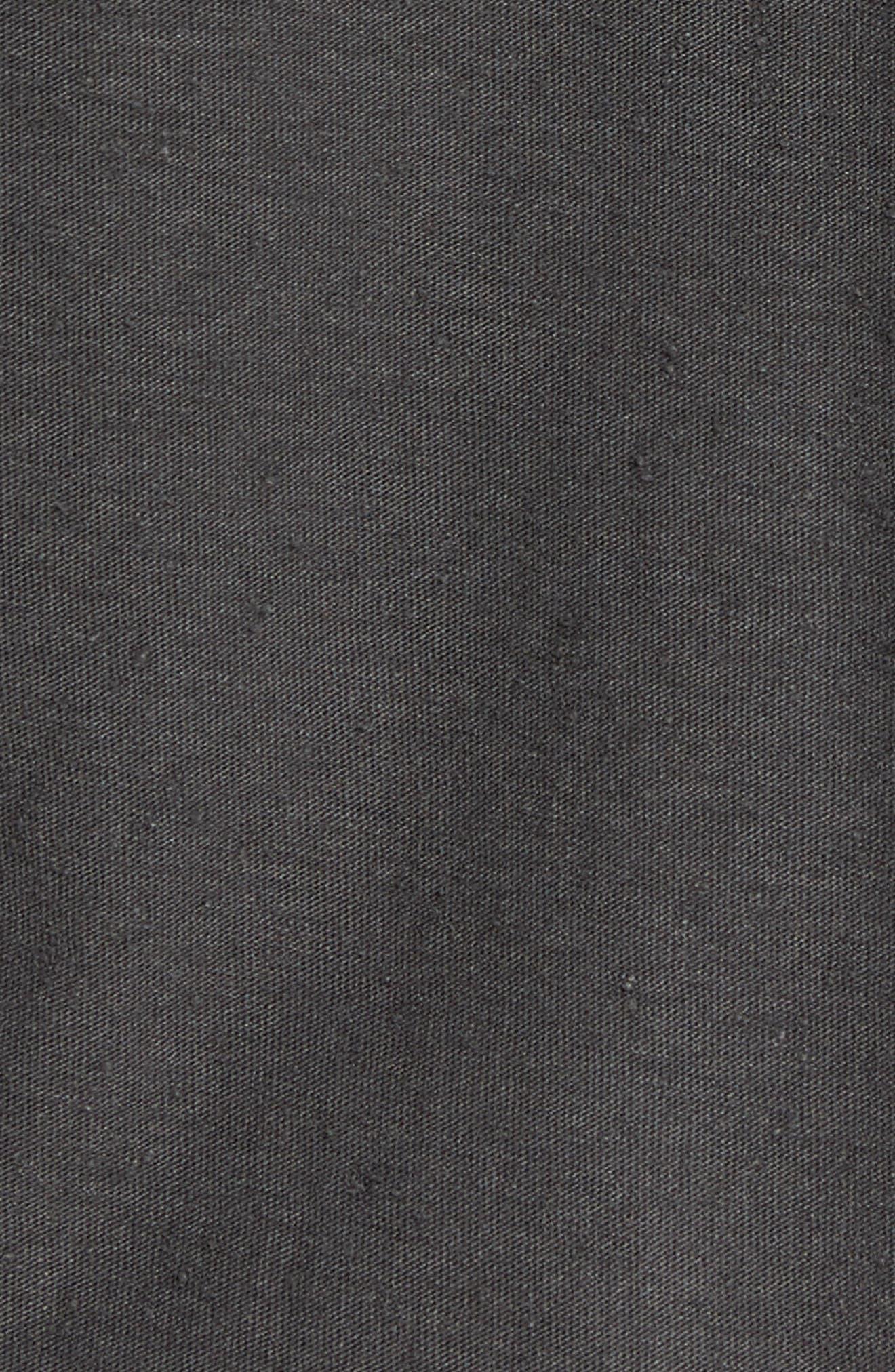 Cotton Henley,                             Alternate thumbnail 5, color,                             Black