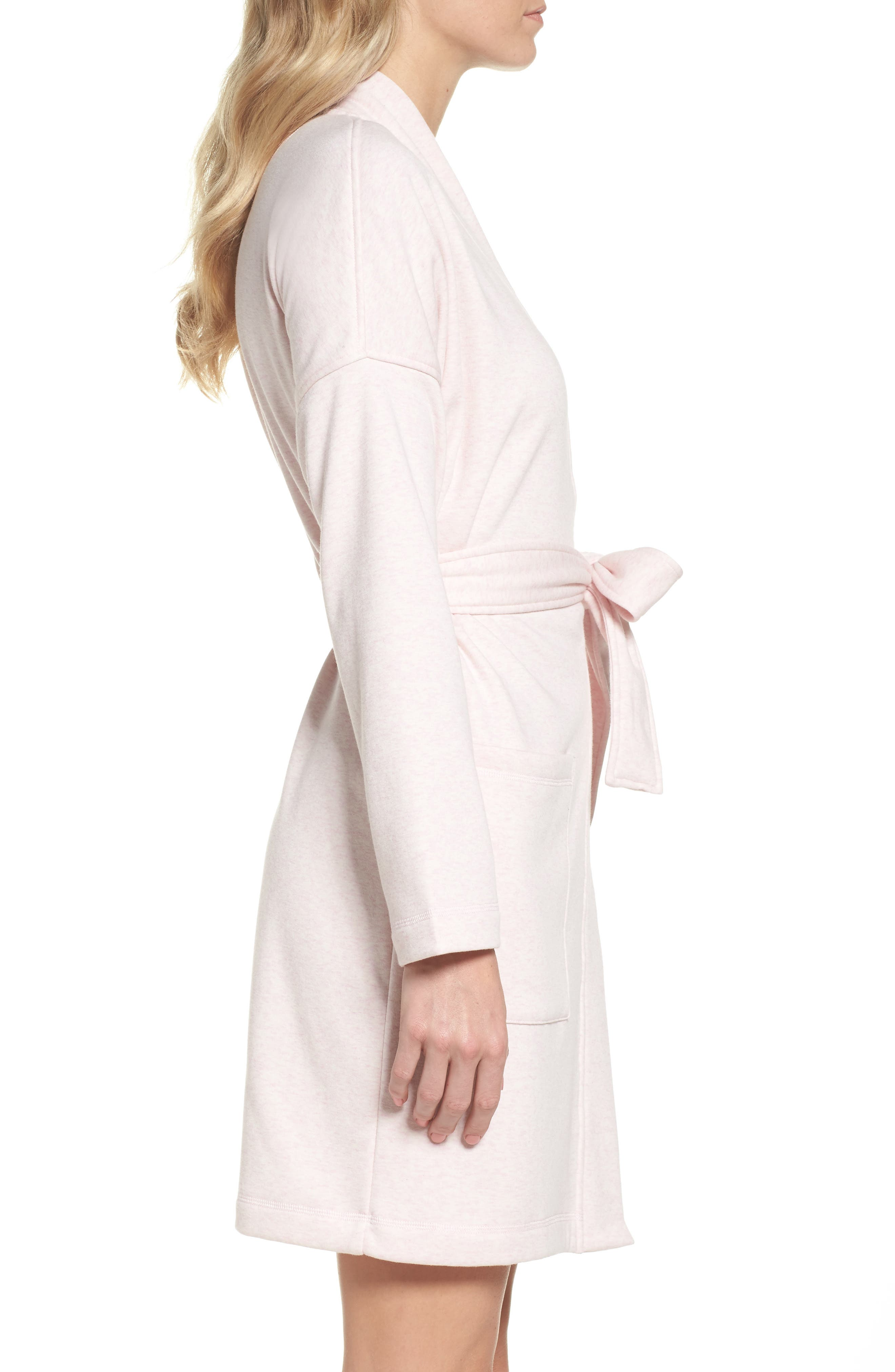Braelyn Robe,                             Alternate thumbnail 3, color,                             Seashell Pink Heather