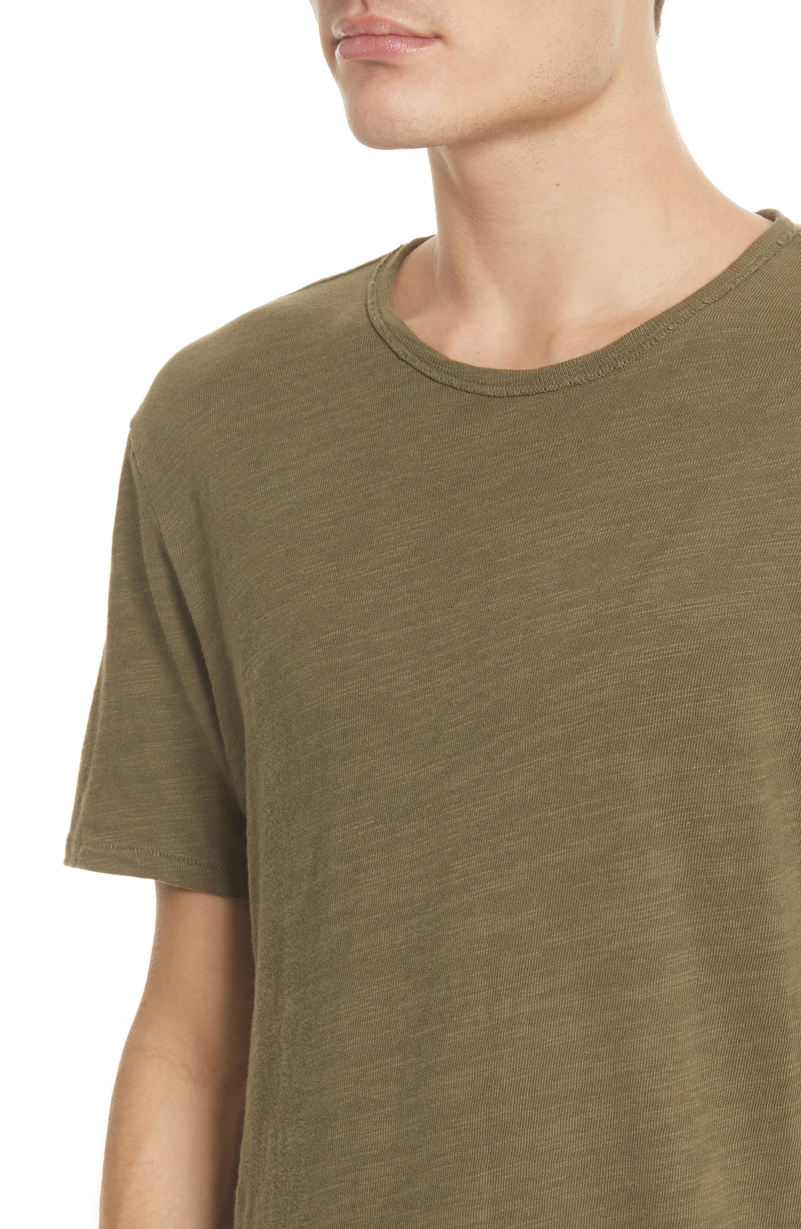 Standard Issue Slubbed Cotton T-Shirt,                             Alternate thumbnail 4, color,                             Army