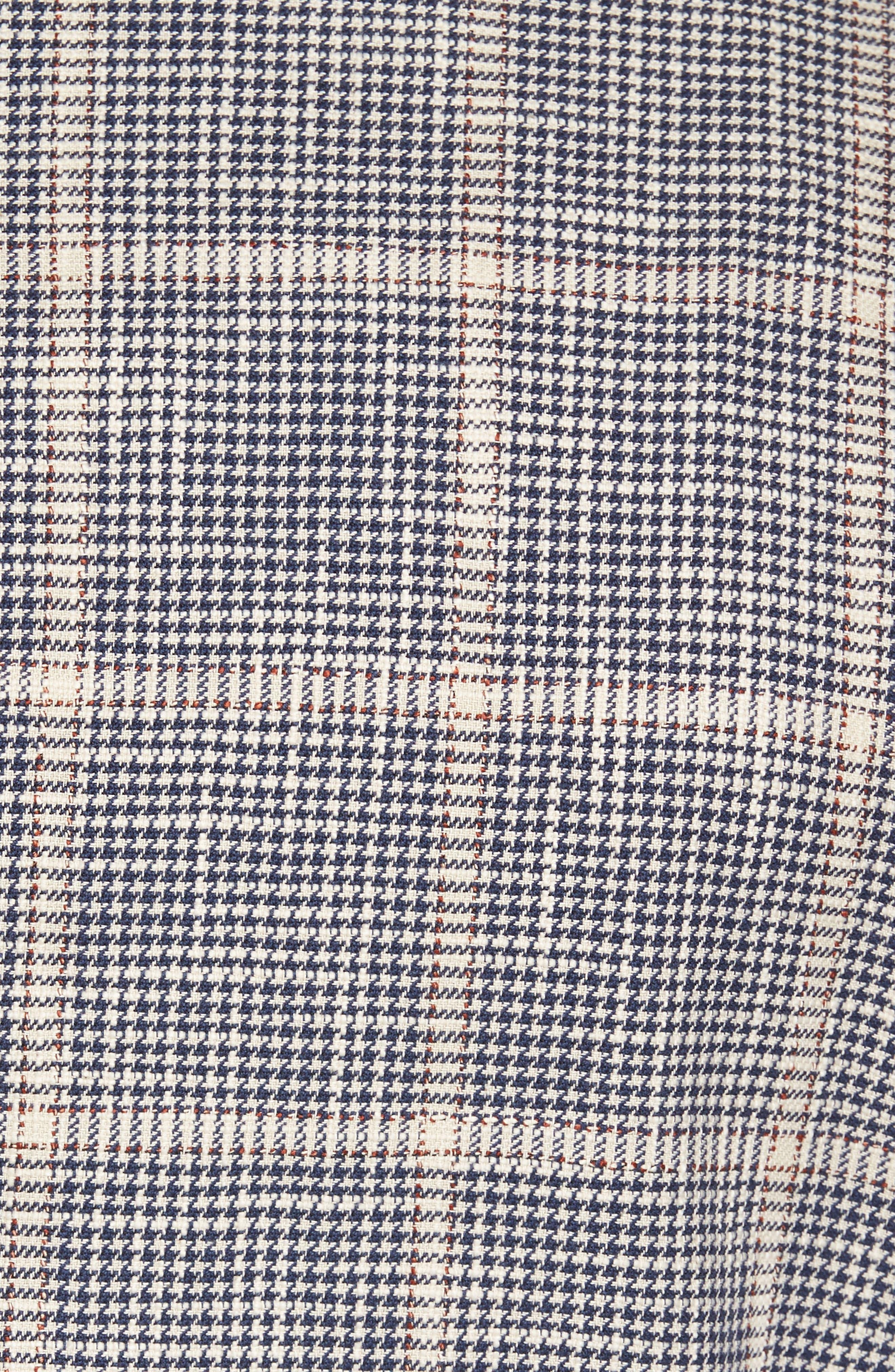 Classic Fit Windowpane Cotton & Silk Sport Coat,                             Alternate thumbnail 5, color,                             Light/ Pastel Brown